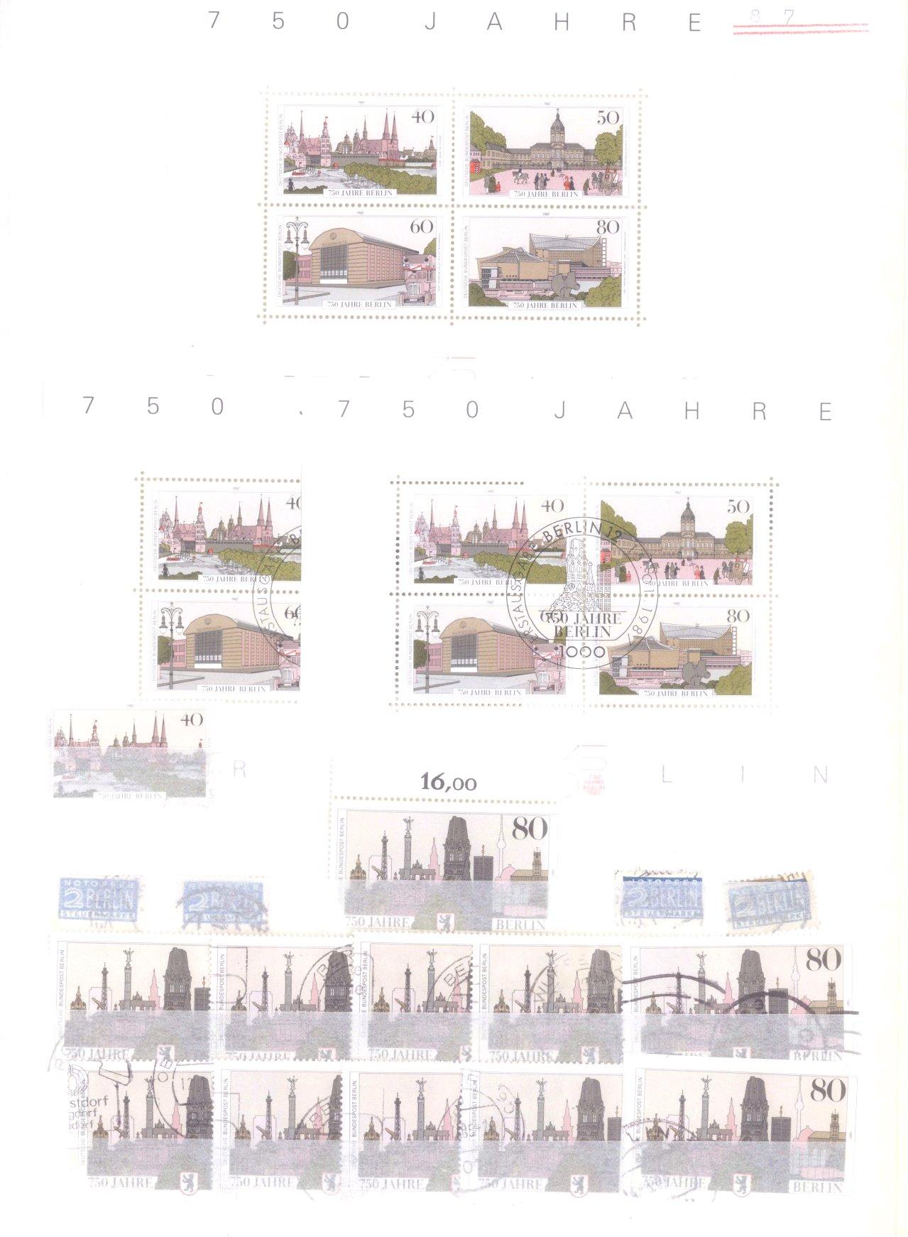 Sammlung Berlin ab 1949 mit Sonderaufstellung d. Dauermarken-57
