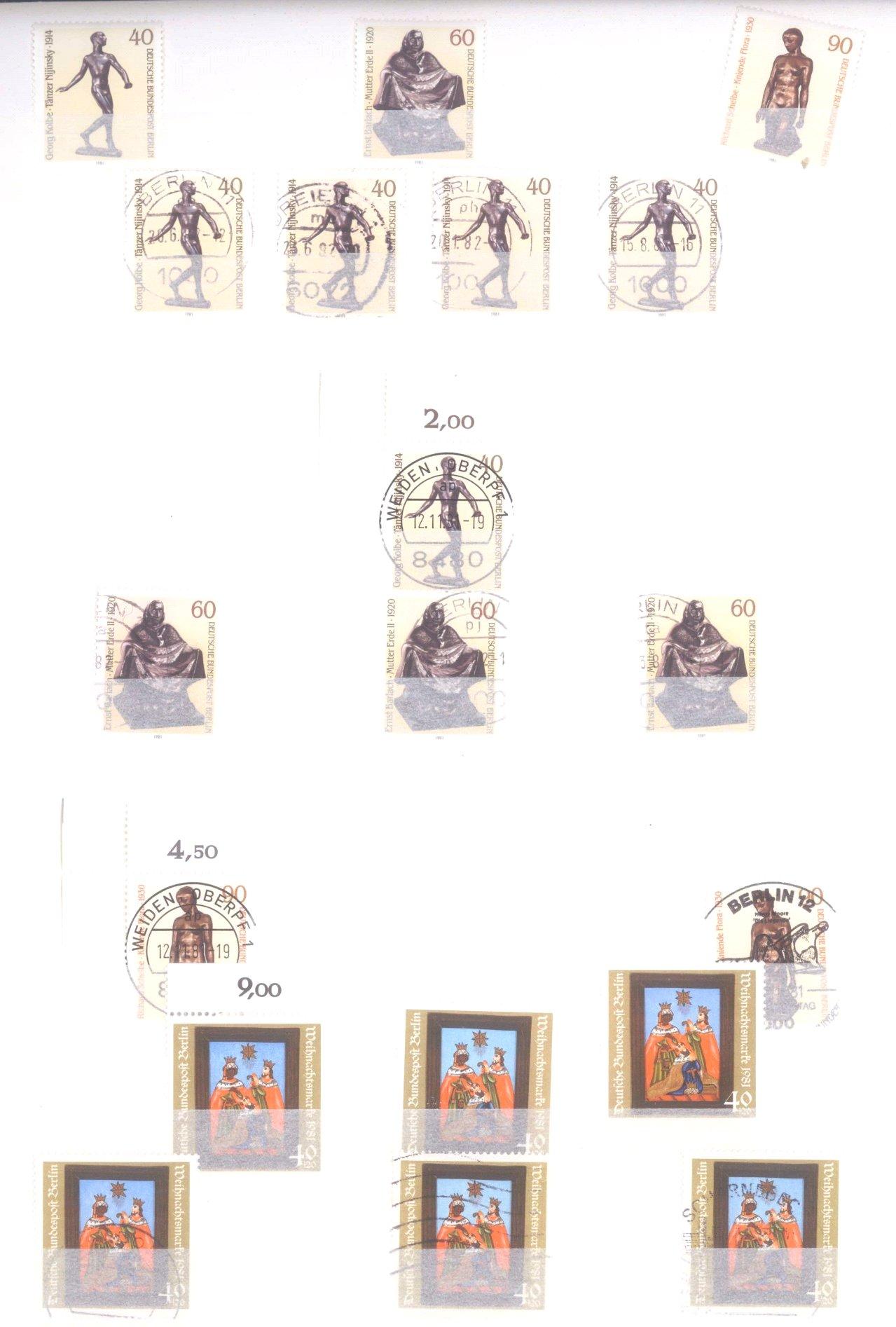 Sammlung Berlin ab 1949 mit Sonderaufstellung d. Dauermarken-79