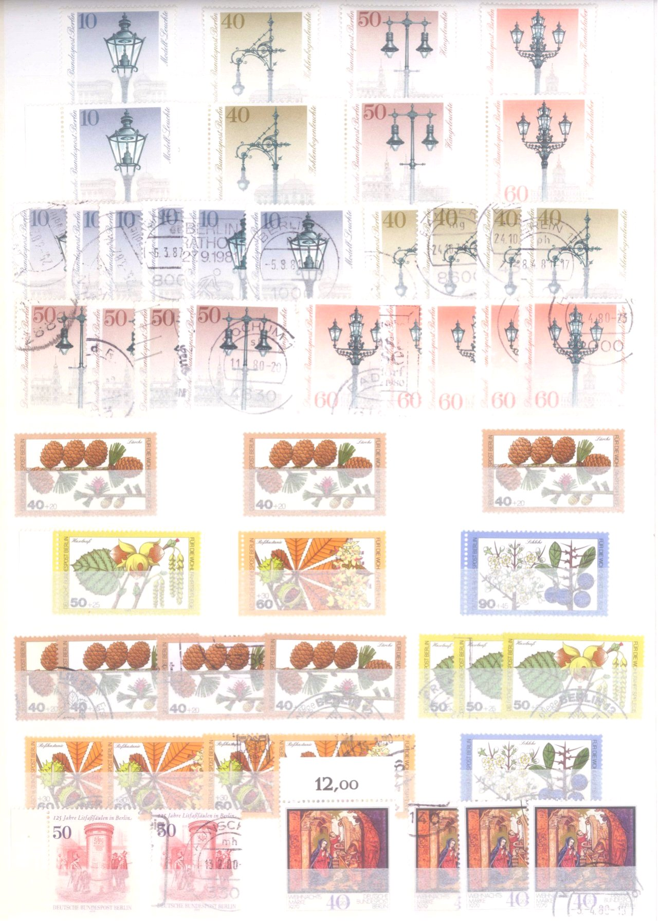 Sammlung Berlin ab 1949 mit Sonderaufstellung d. Dauermarken-85