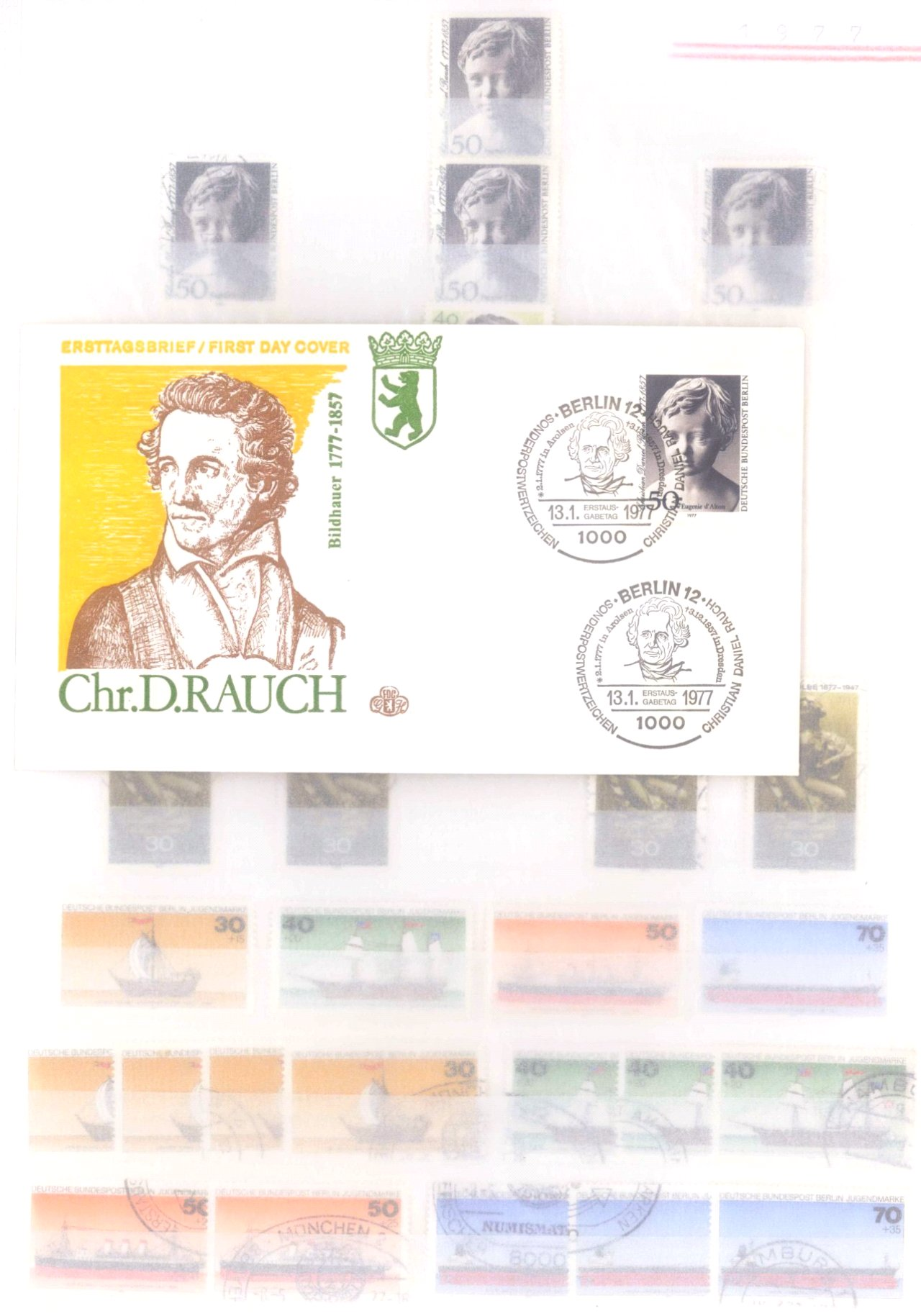 Sammlung Berlin ab 1949 mit Sonderaufstellung d. Dauermarken-91
