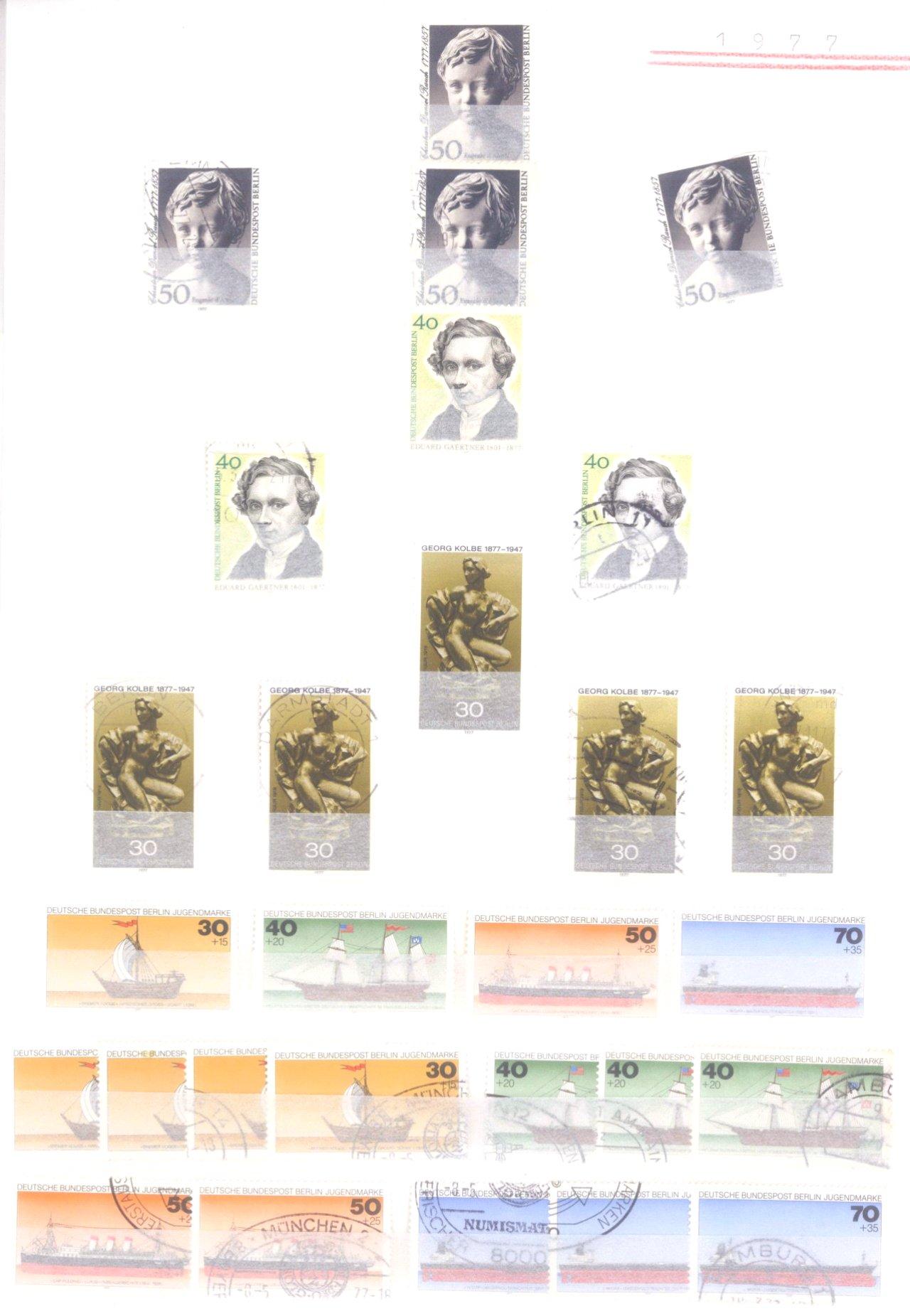 Sammlung Berlin ab 1949 mit Sonderaufstellung d. Dauermarken-92