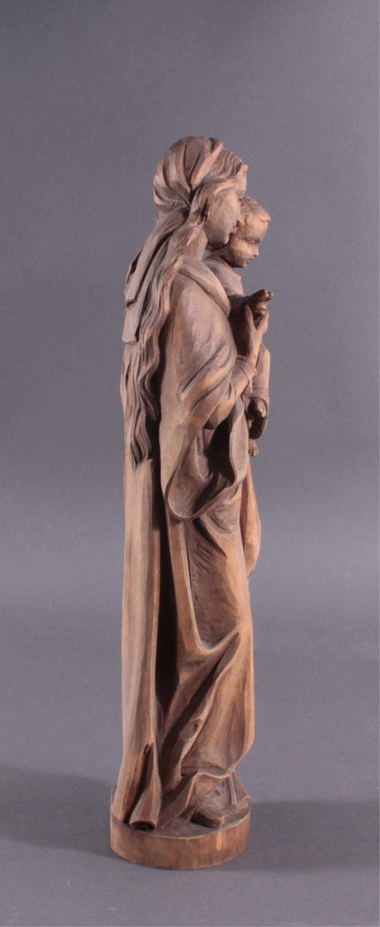 Holz Skulptur Madonna mit Kind-1