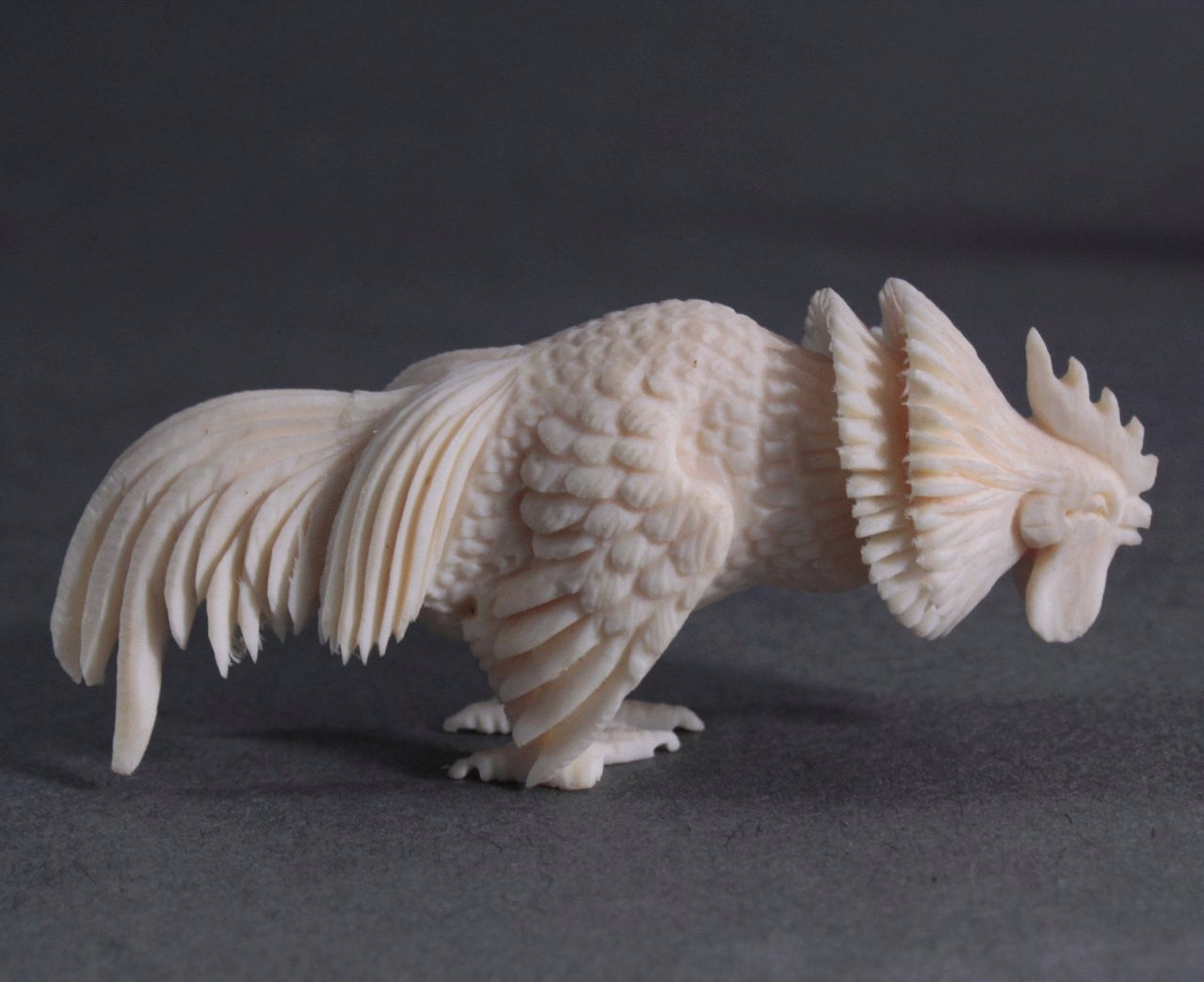 Vier Tier-Skulpturen. Jade/Elfenbein, China 20. Jh.-2