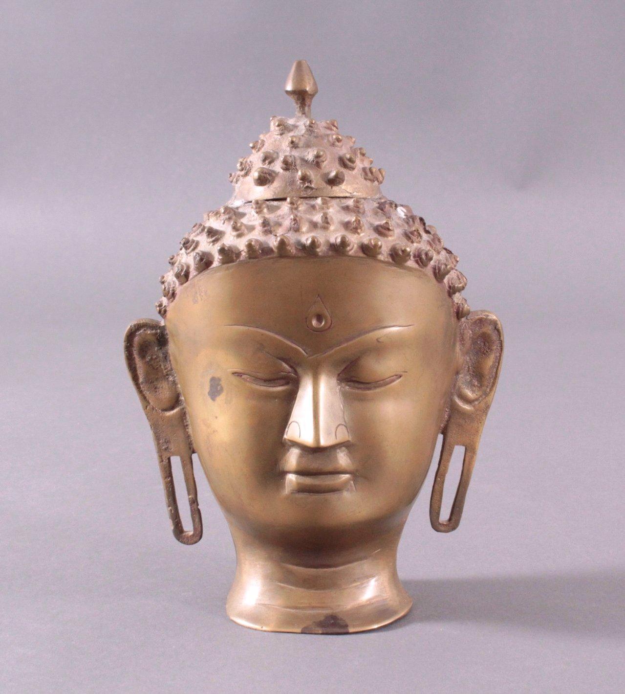 Buddha-Kopf, Bronze Thailand, 20. Jh. oder früher