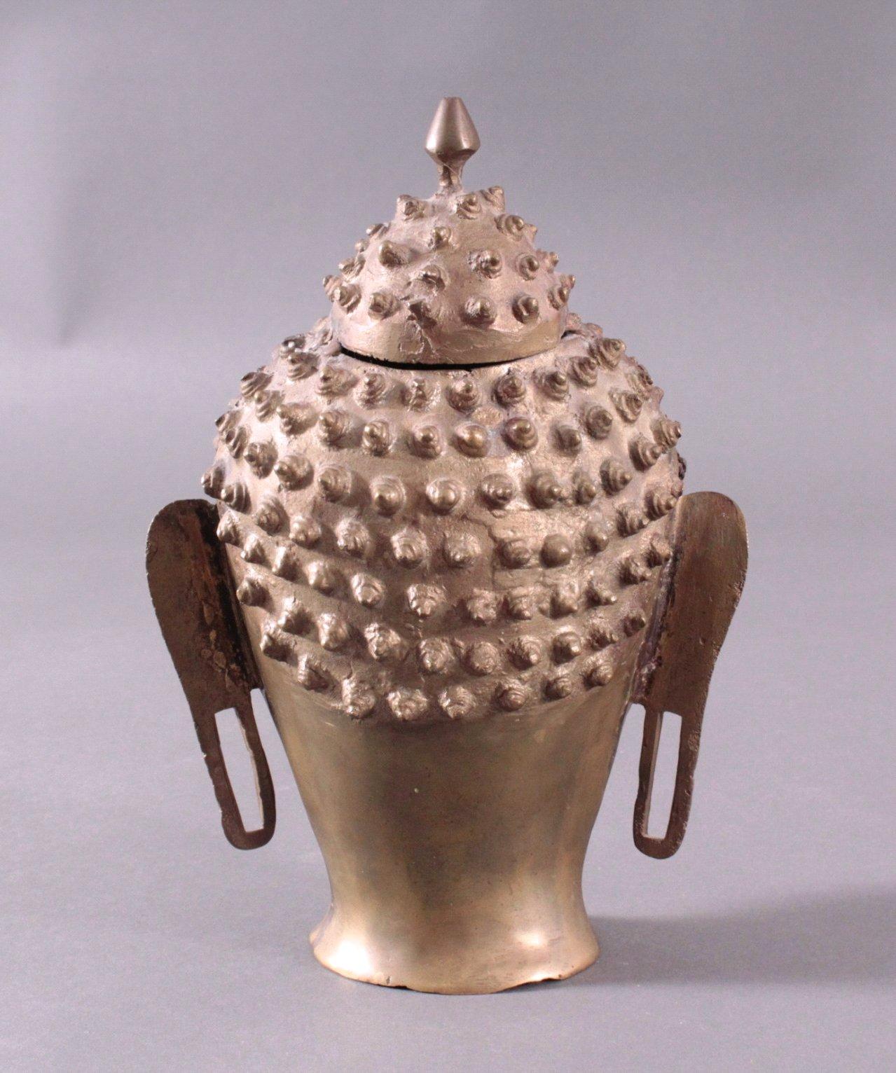 Buddha-Kopf, Bronze Thailand, 20. Jh. oder früher-2