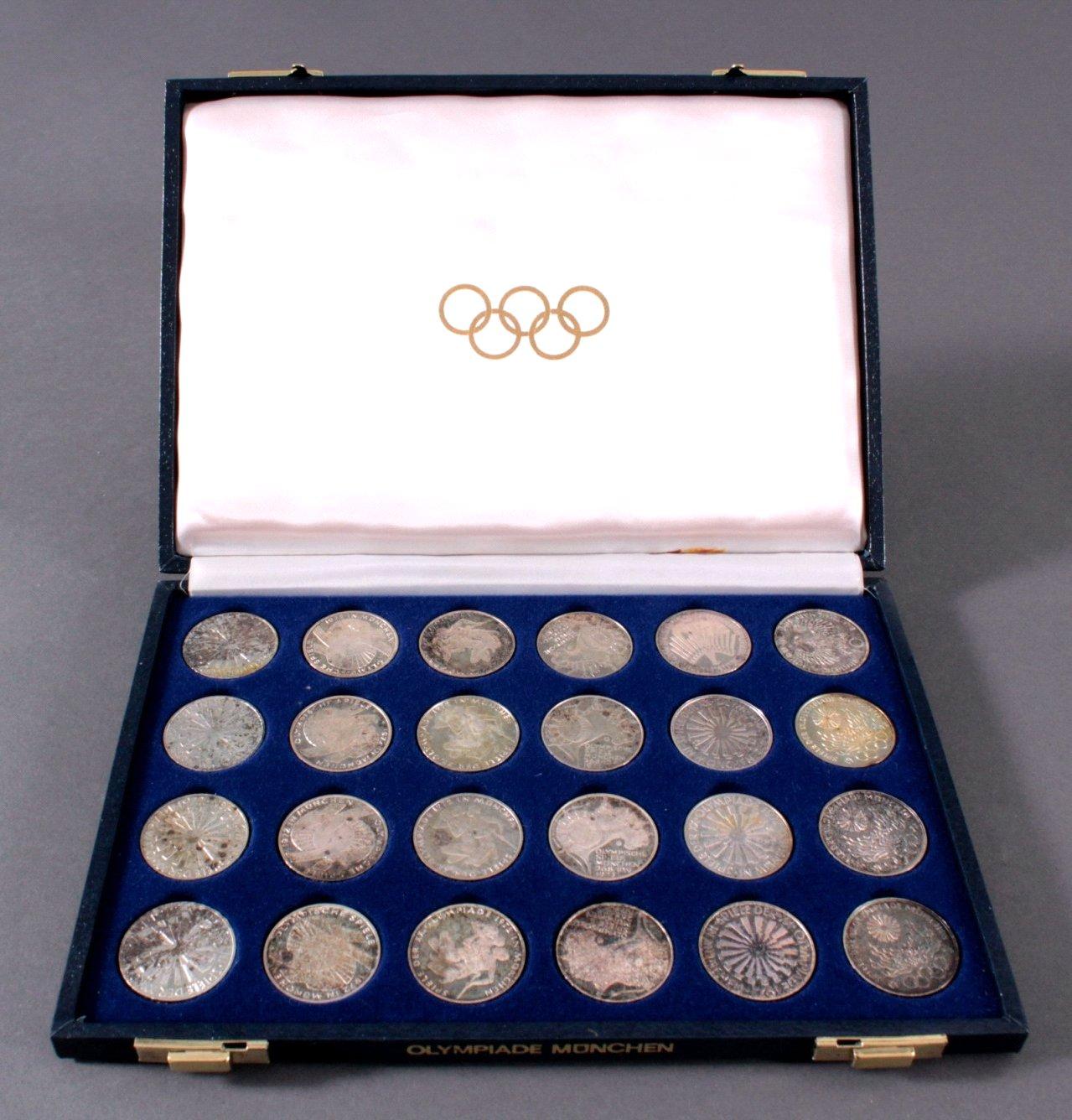 Olympiade München 1972, 10 DM Gedenkmünzen-2