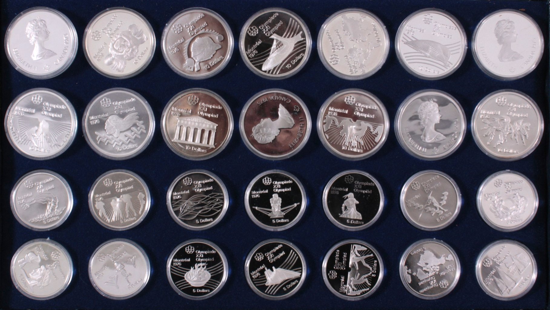 Komplettes Set Gedenkmünzen Montreal 1976