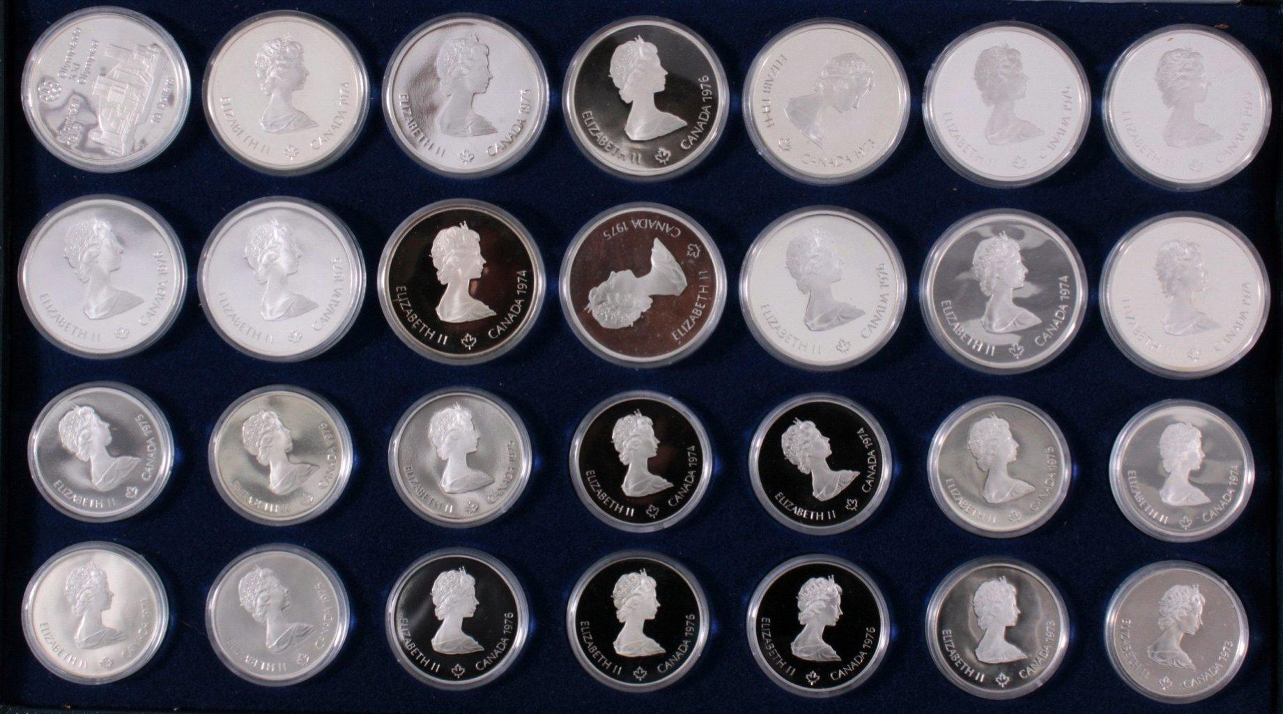 Komplettes Set Gedenkmünzen Montreal 1976-1