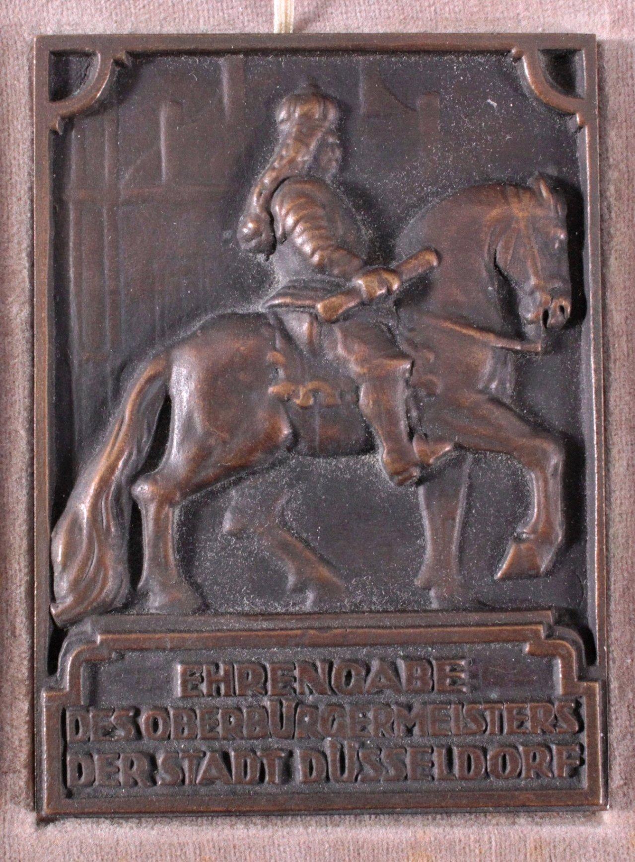 Bronzeplakette Düsseldorf 1935