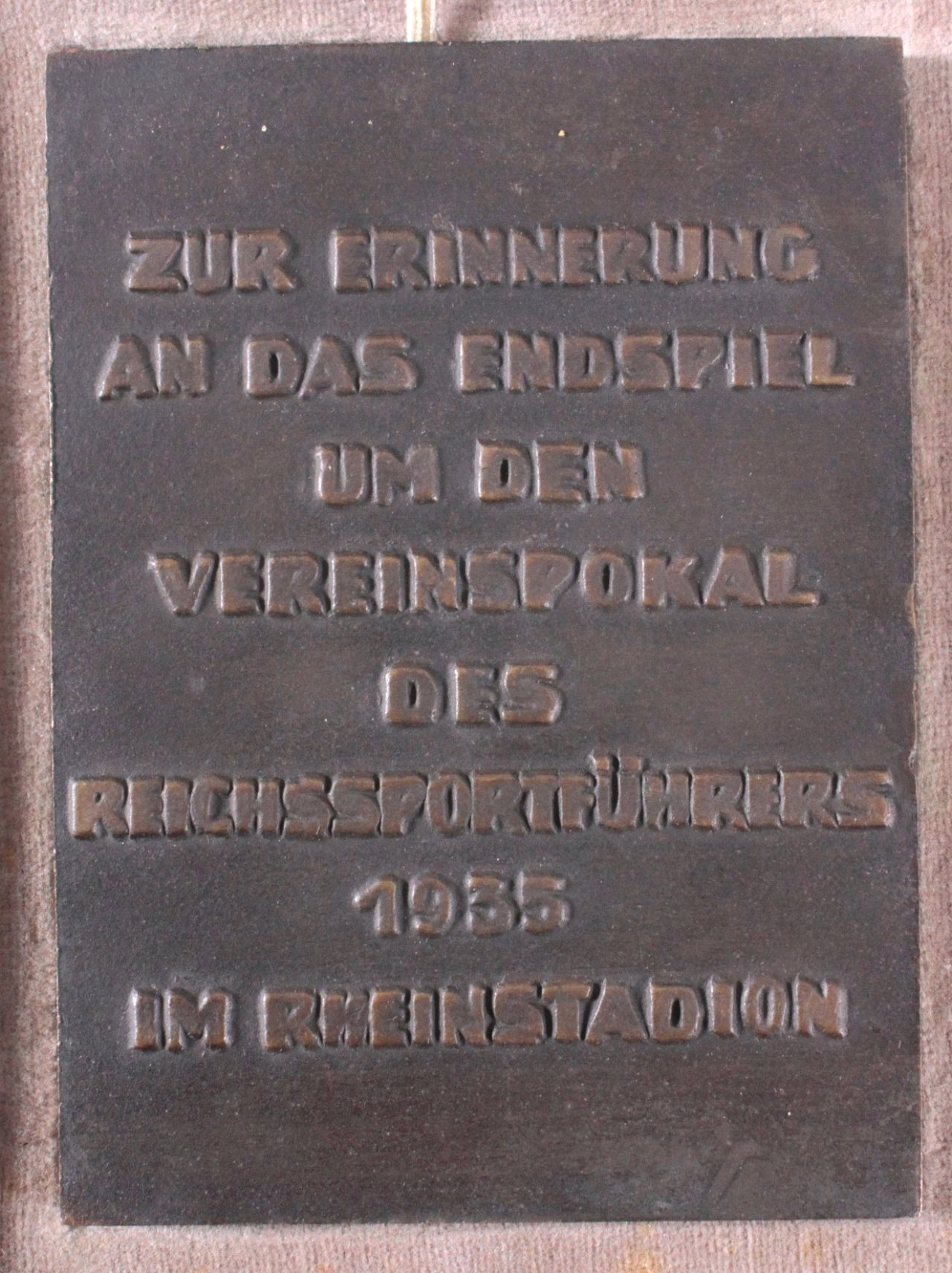 Bronzeplakette Düsseldorf 1935-1