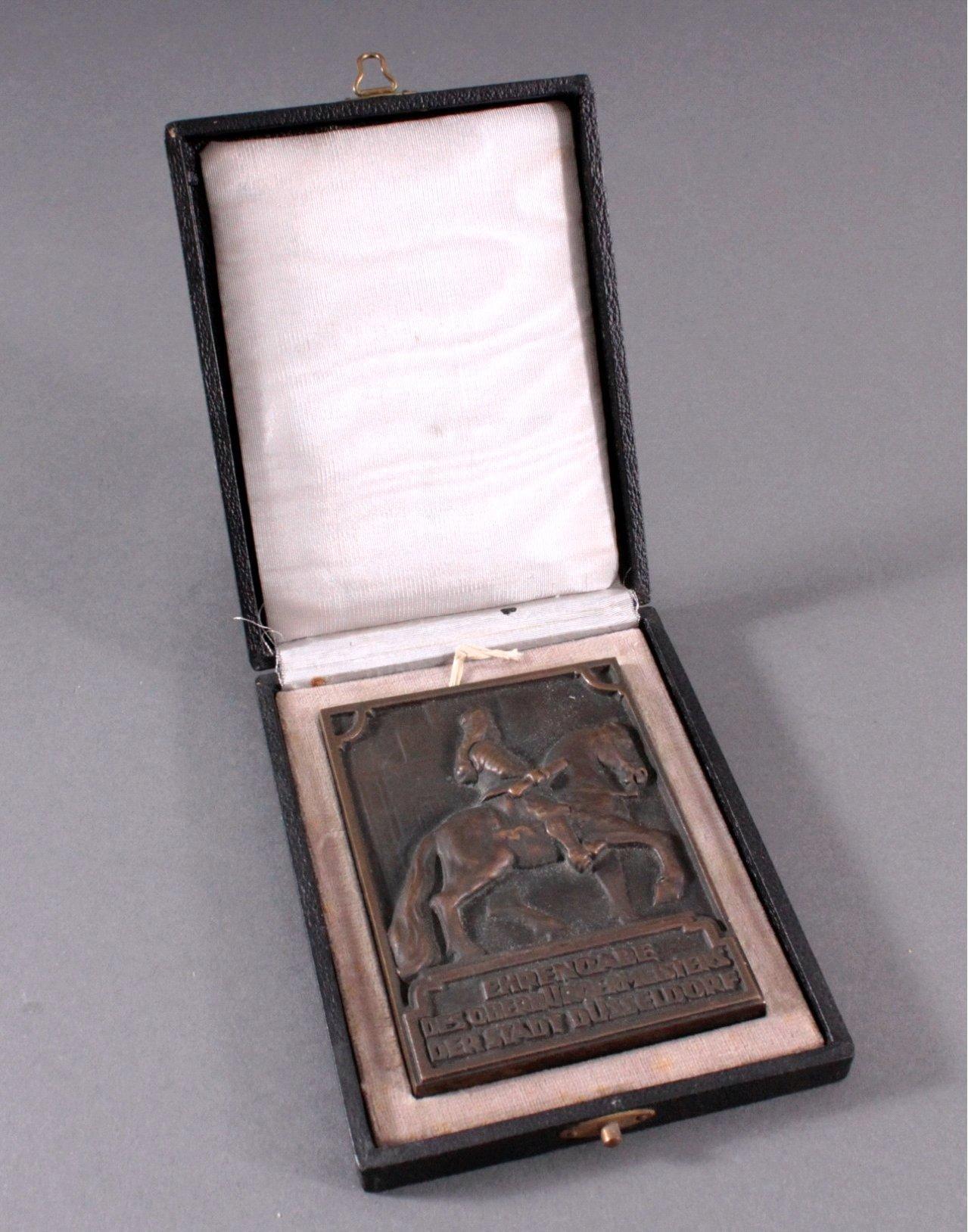 Bronzeplakette Düsseldorf 1935-2
