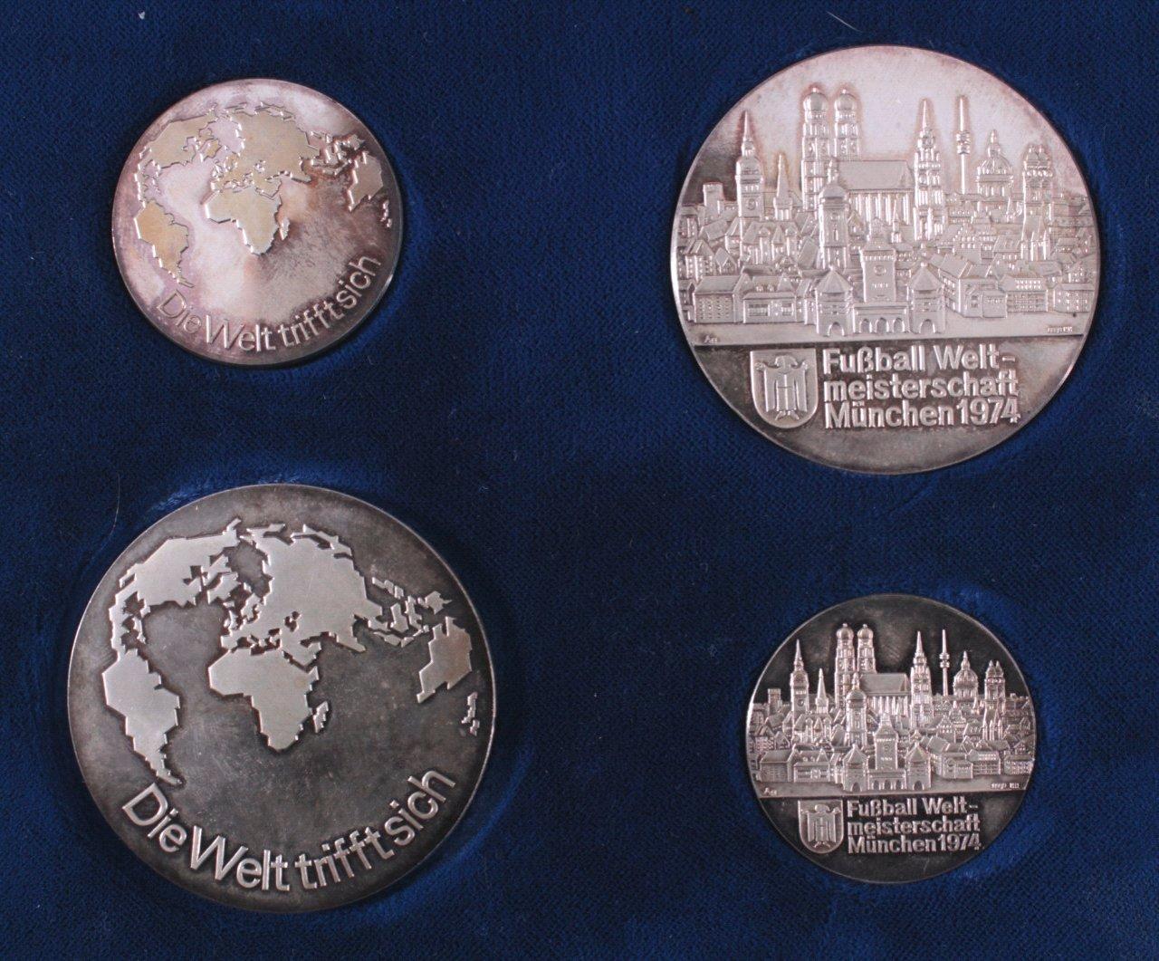 4 Silbermedaillen WM 1974-1