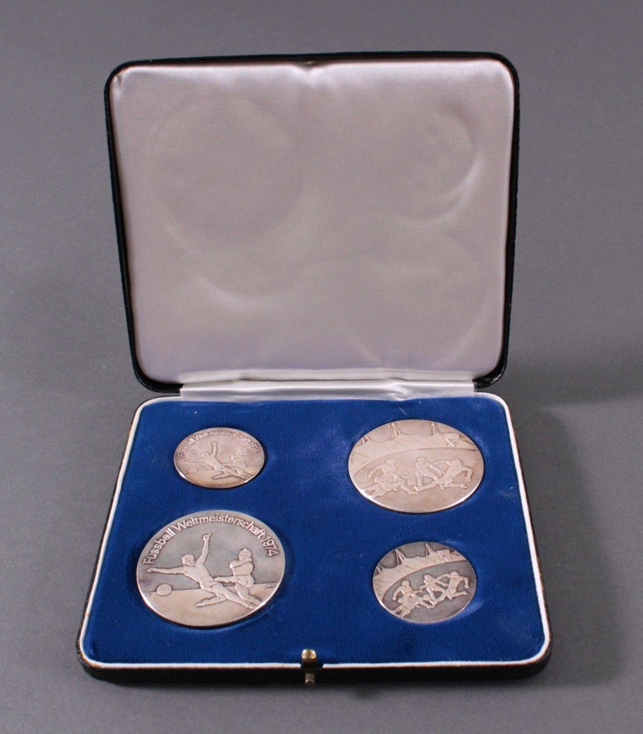 4 Silbermedaillen WM 1974-2