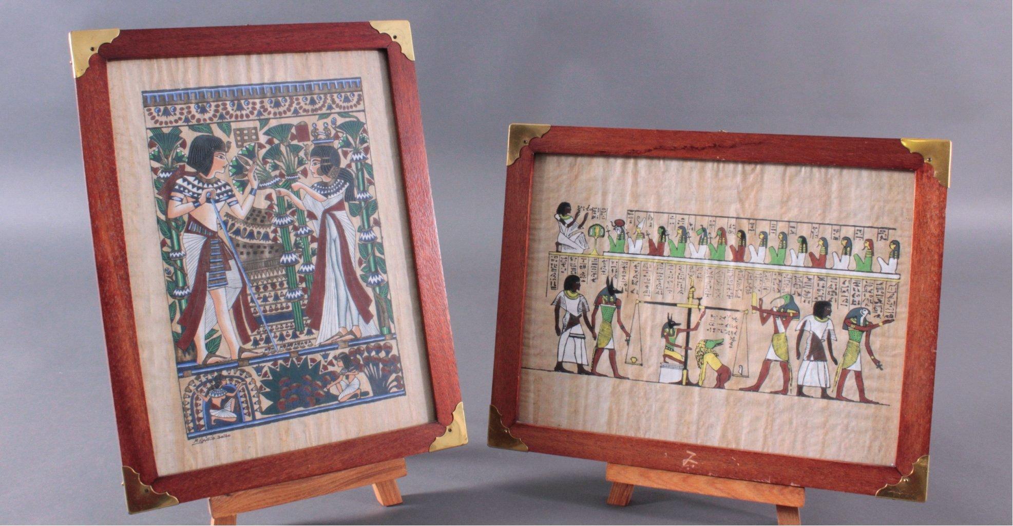 Ägyptische Papyrus Malerei