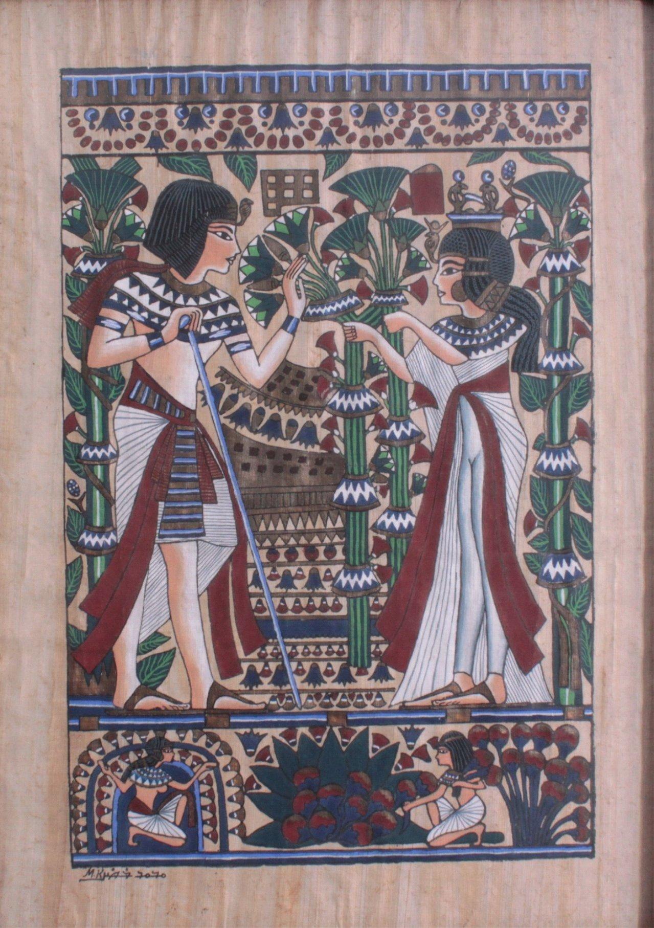 Ägyptische Papyrus Malerei-1