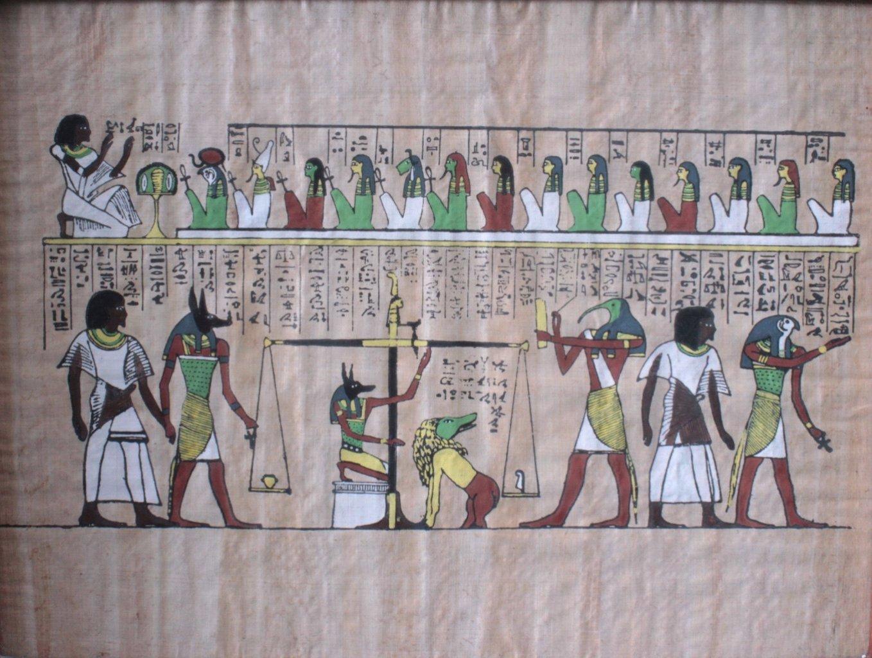 Ägyptische Papyrus Malerei-2