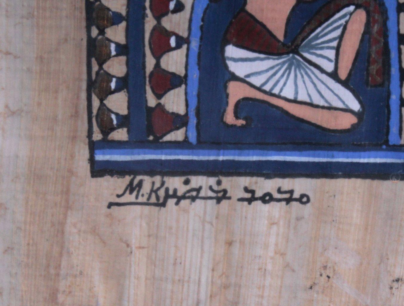 Ägyptische Papyrus Malerei-3