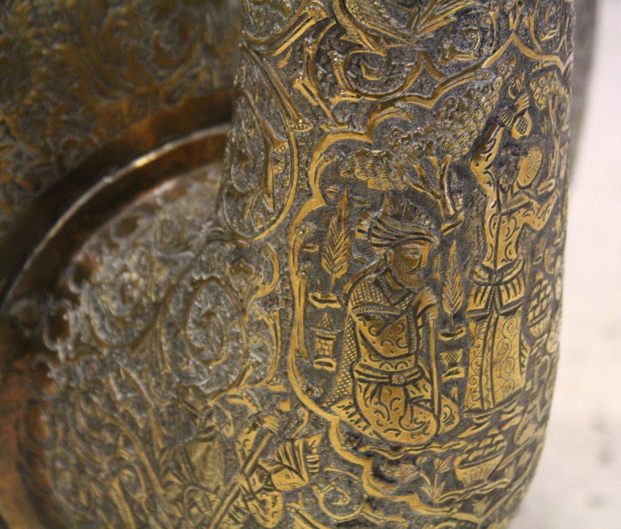 Antiker Riesiger Teekessel und Tablett, Persien um 1970-11
