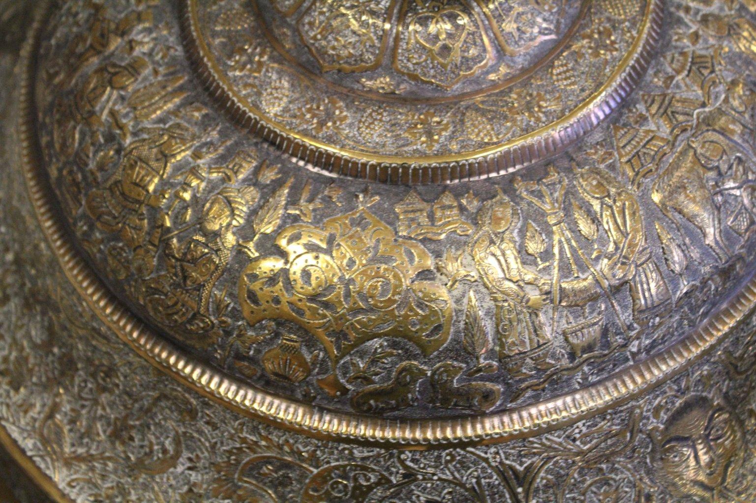 Antiker Riesiger Teekessel und Tablett, Persien um 1970-16