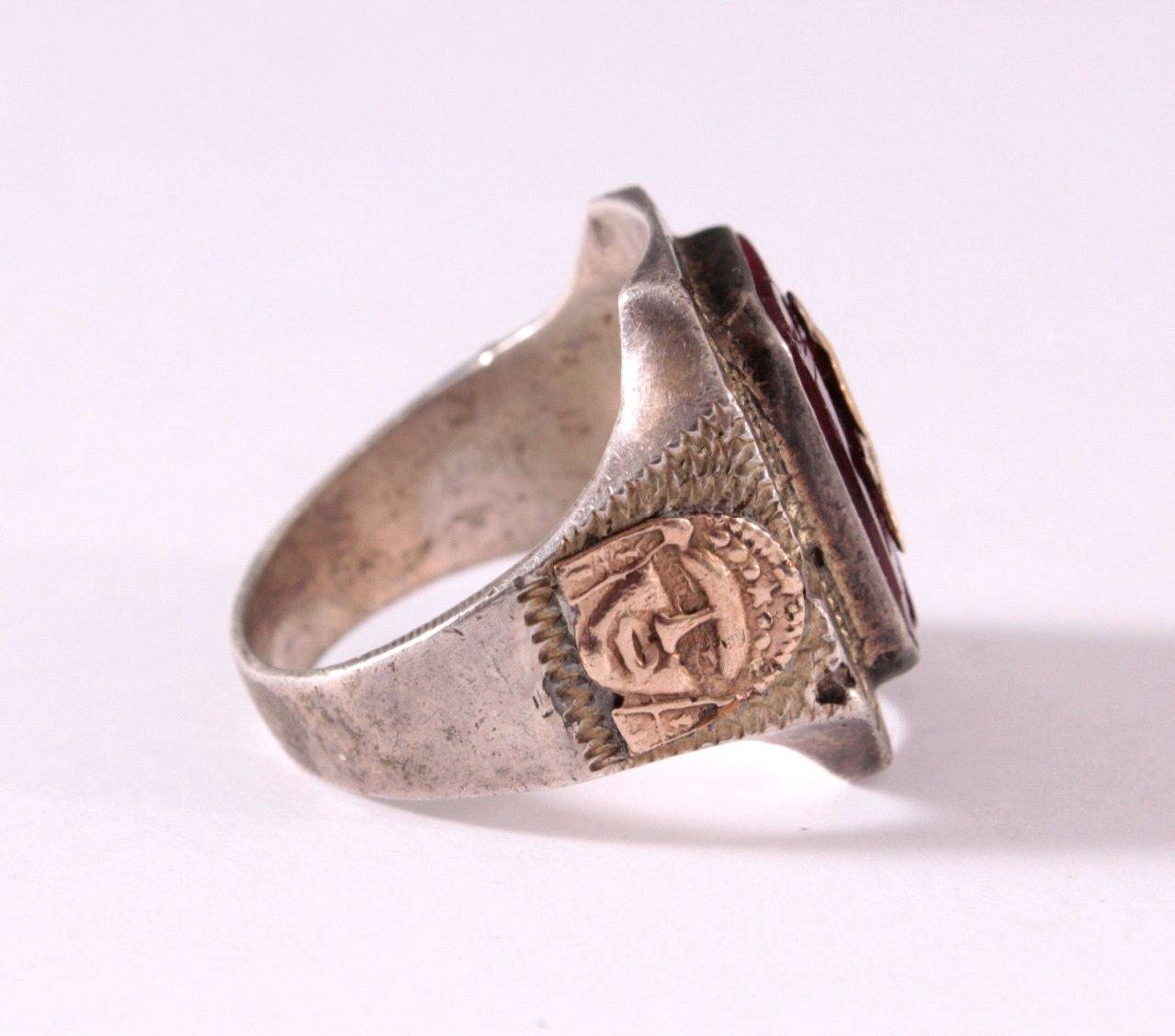 Antiker Freimaurer Ring, 925er Silber-2