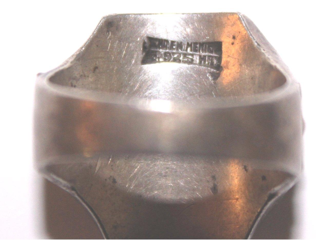 Antiker Freimaurer Ring, 925er Silber-4