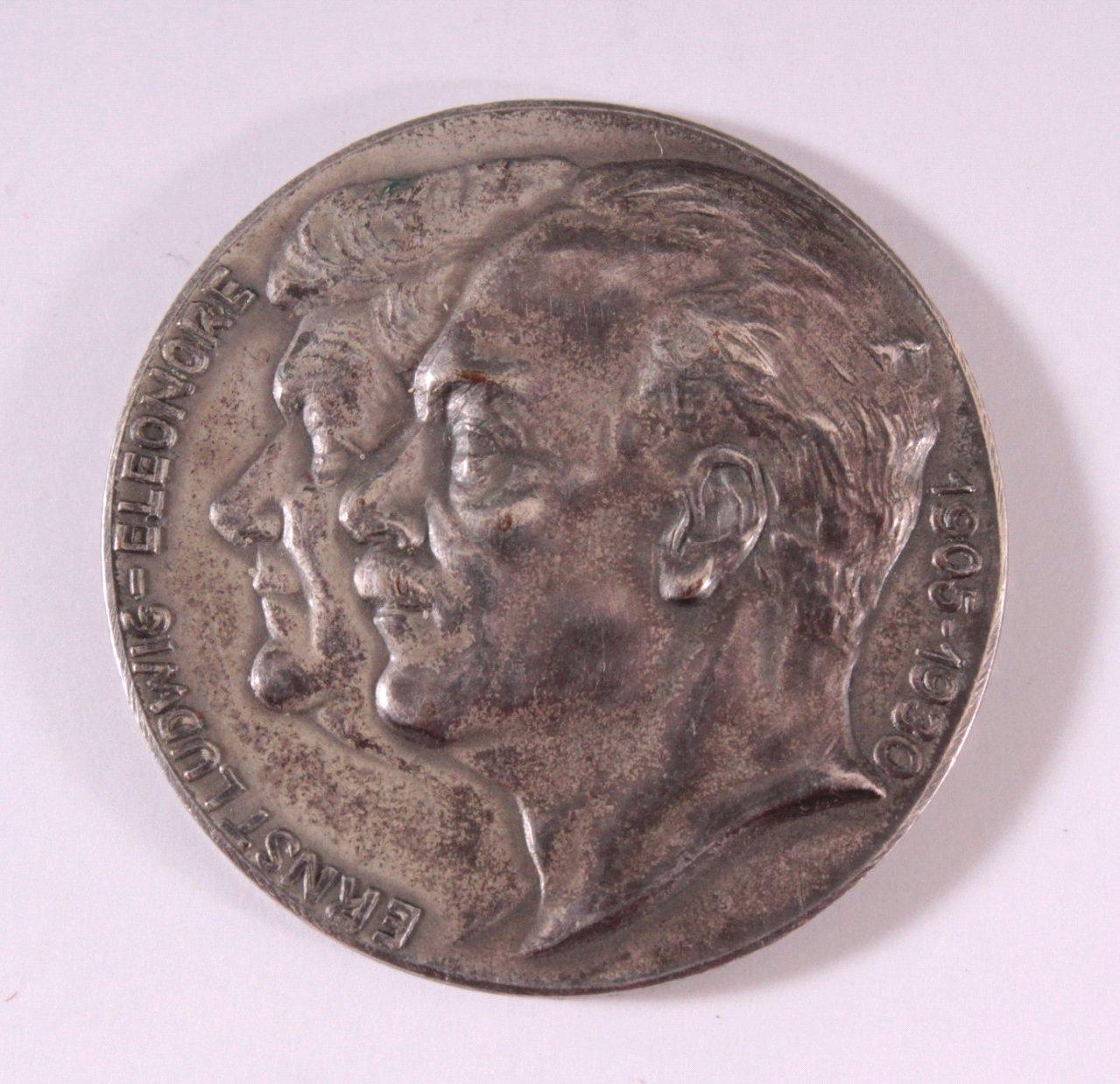 Silbermedaille Ernst-Ludwig Eleonore 1905-1930
