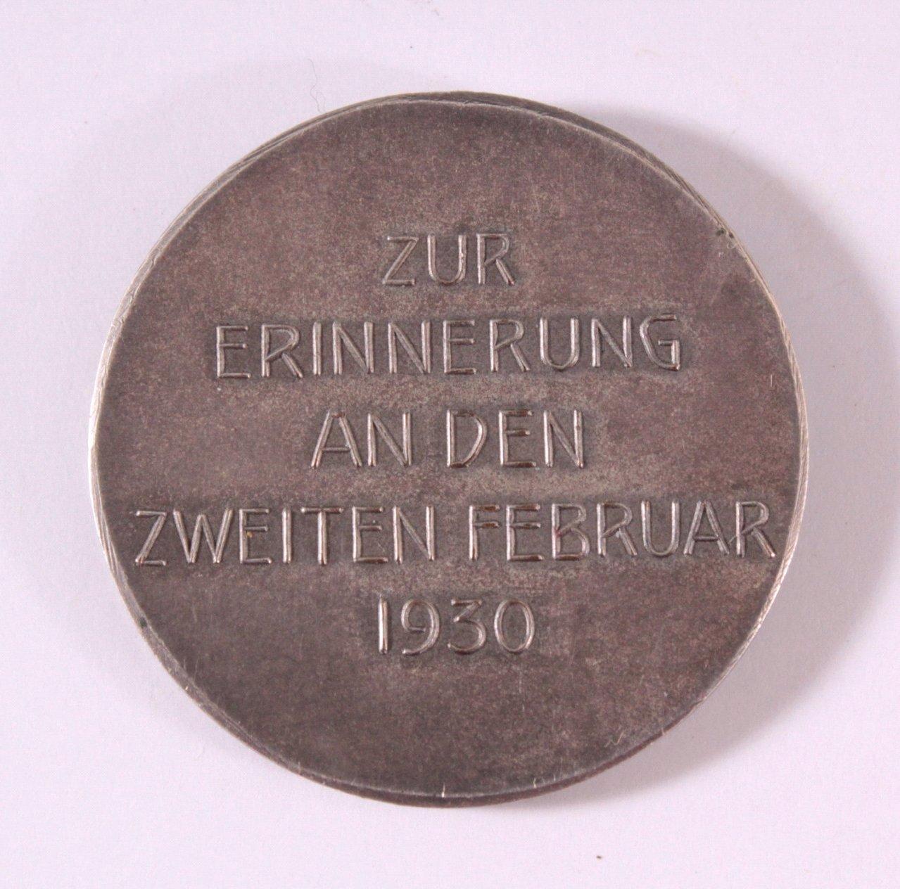 Silbermedaille Ernst-Ludwig Eleonore 1905-1930-1