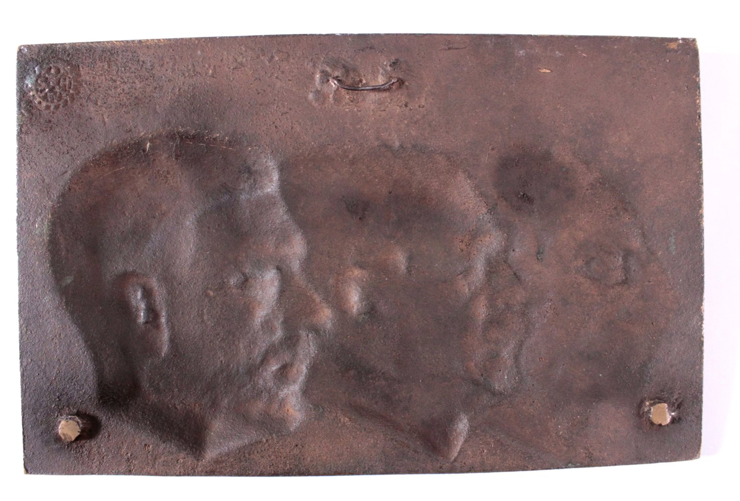 """Große Bronzeplakette """"Deutsche Männer aus Erz""""-1"""
