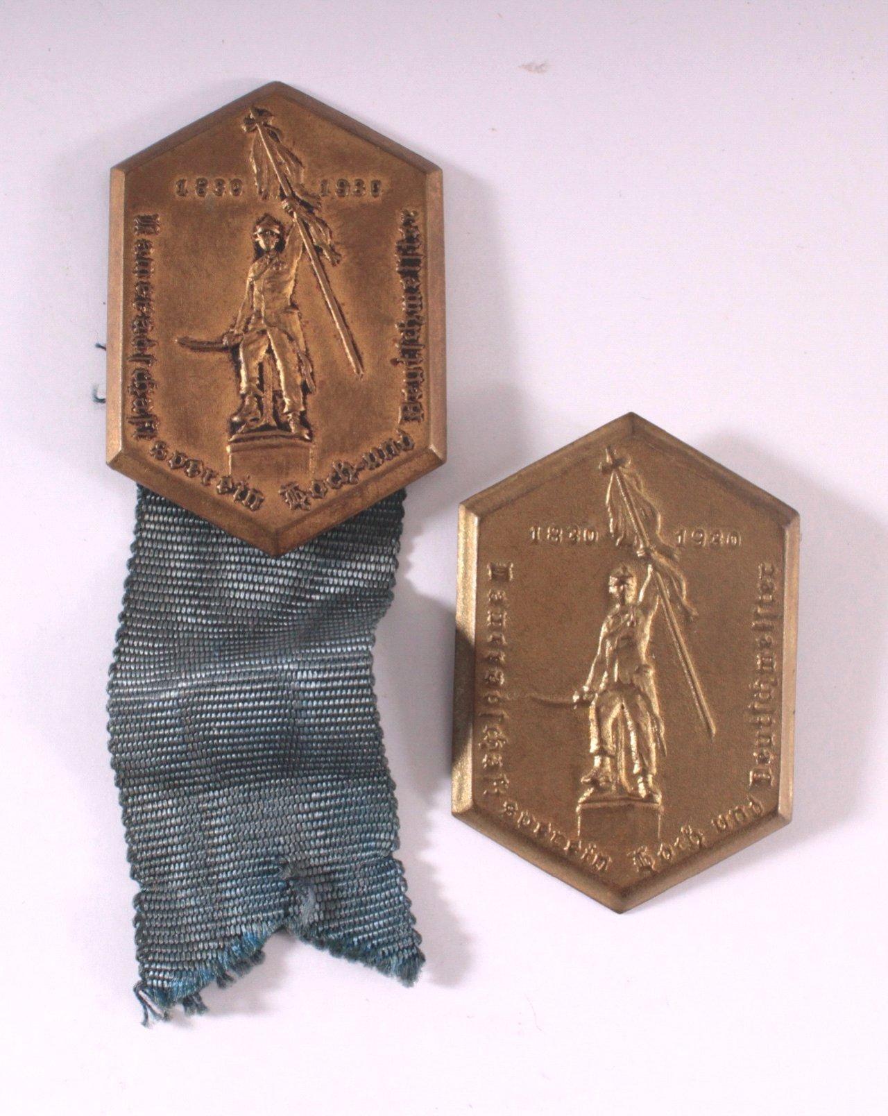 2 Abzeichen Hoch- und Deutschmeisterorden 1930