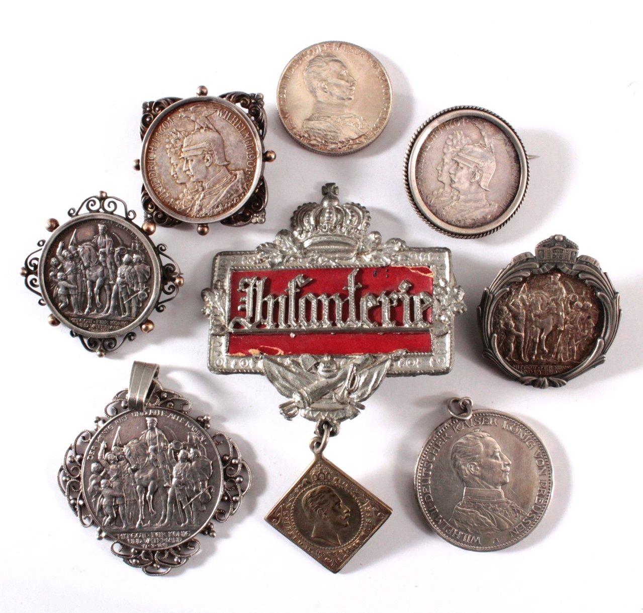 Gefasste Münzen, Kaiserreich / Preußen