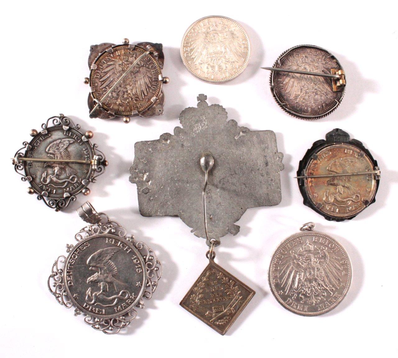 Gefasste Münzen, Kaiserreich / Preußen-1
