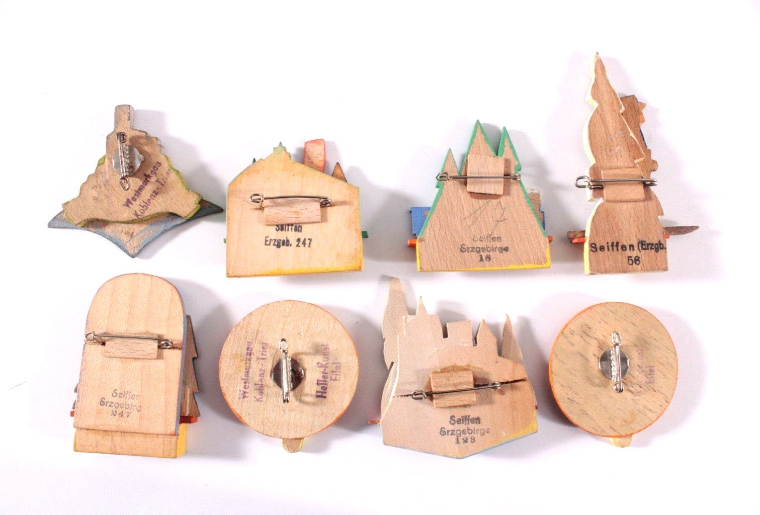 8 Holzanstecker KdF-1