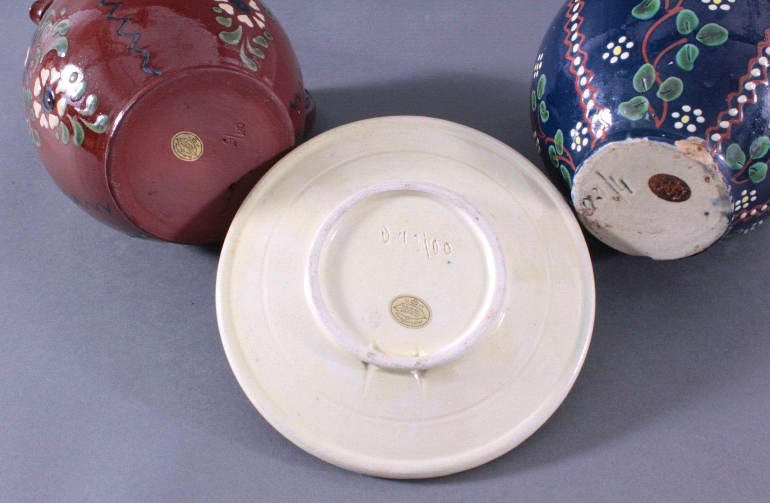 Drei Teile Keramik, Schneider Marburg-1