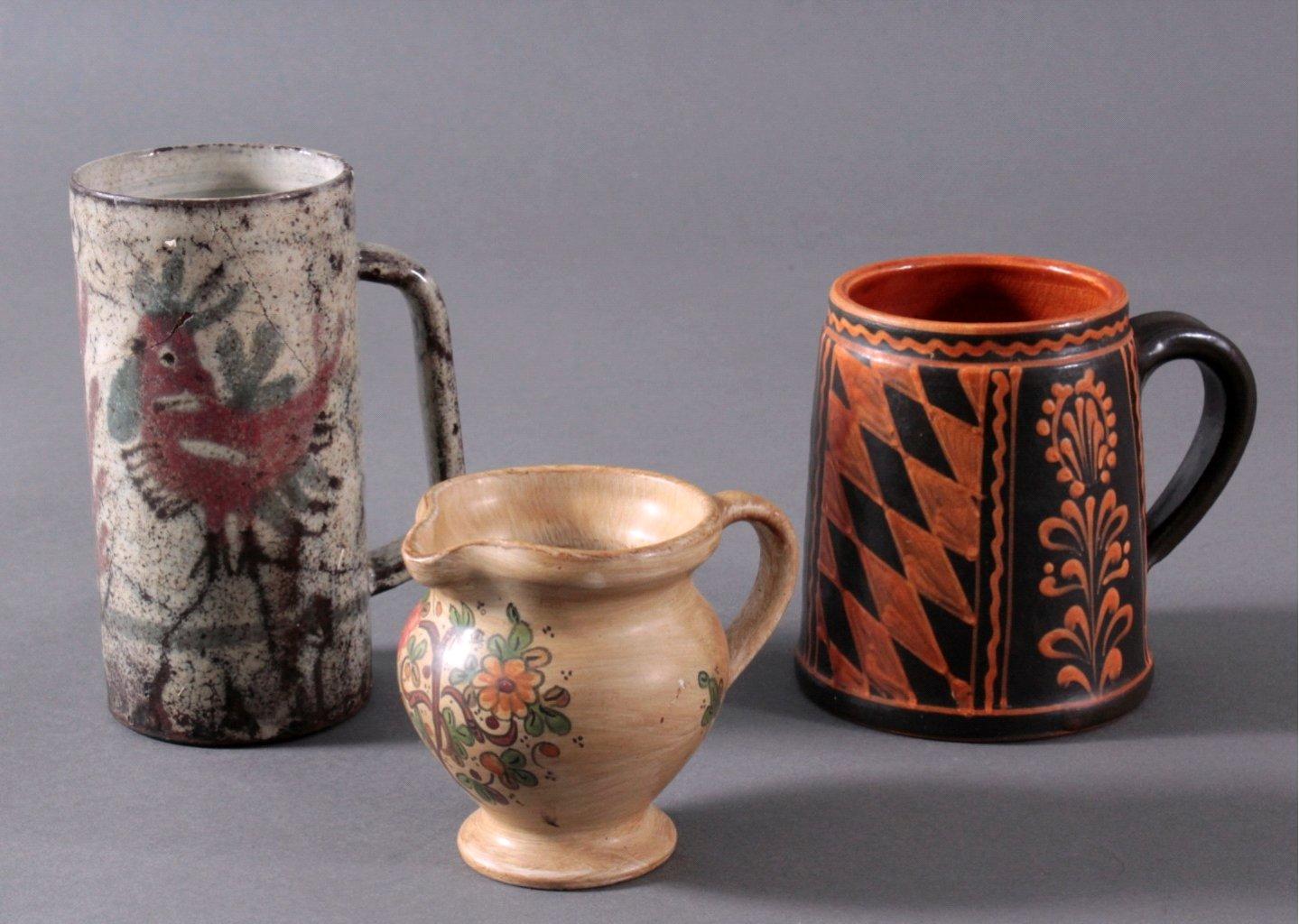 Drei Teile Keramik, 19./20. Jh.