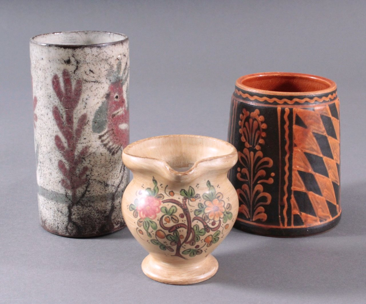 Drei Teile Keramik, 19./20. Jh.-1