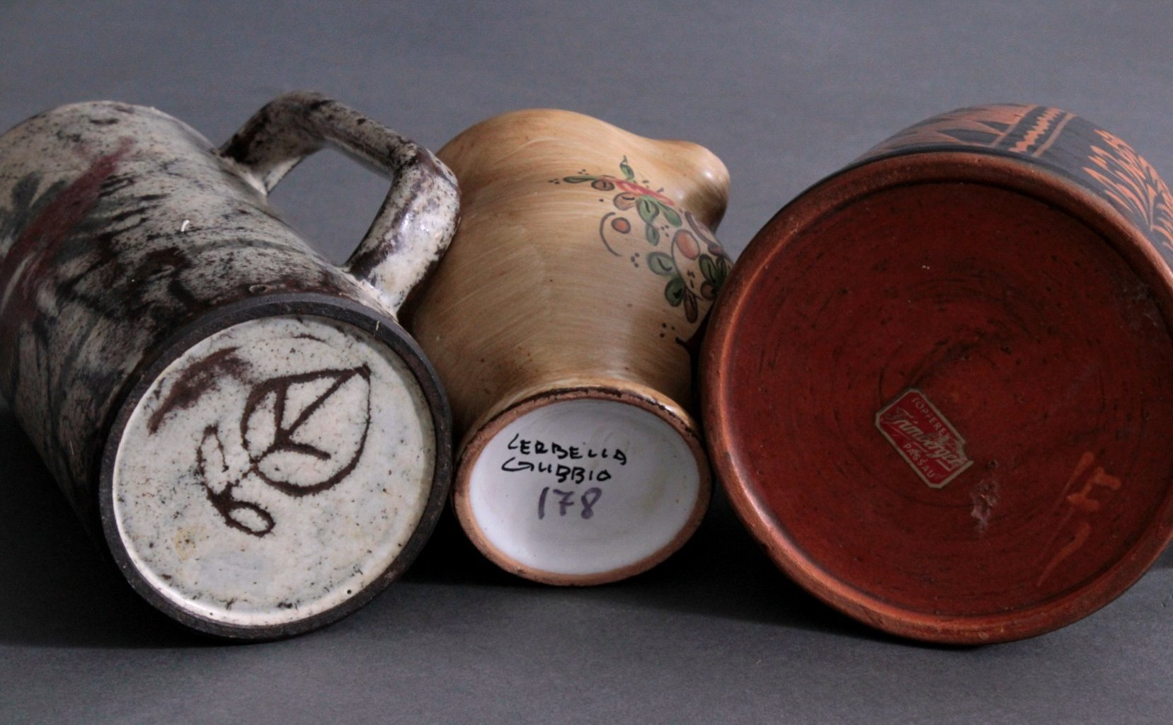 Drei Teile Keramik, 19./20. Jh.-2