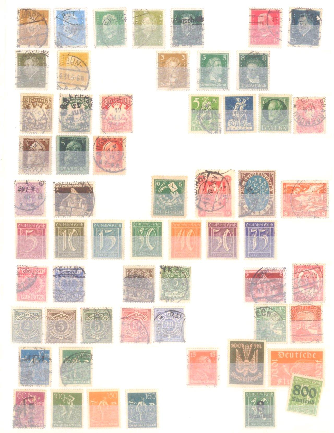 Kleine Sammlung Deutsches Reich, Bund, Alle Welt, DDR-1