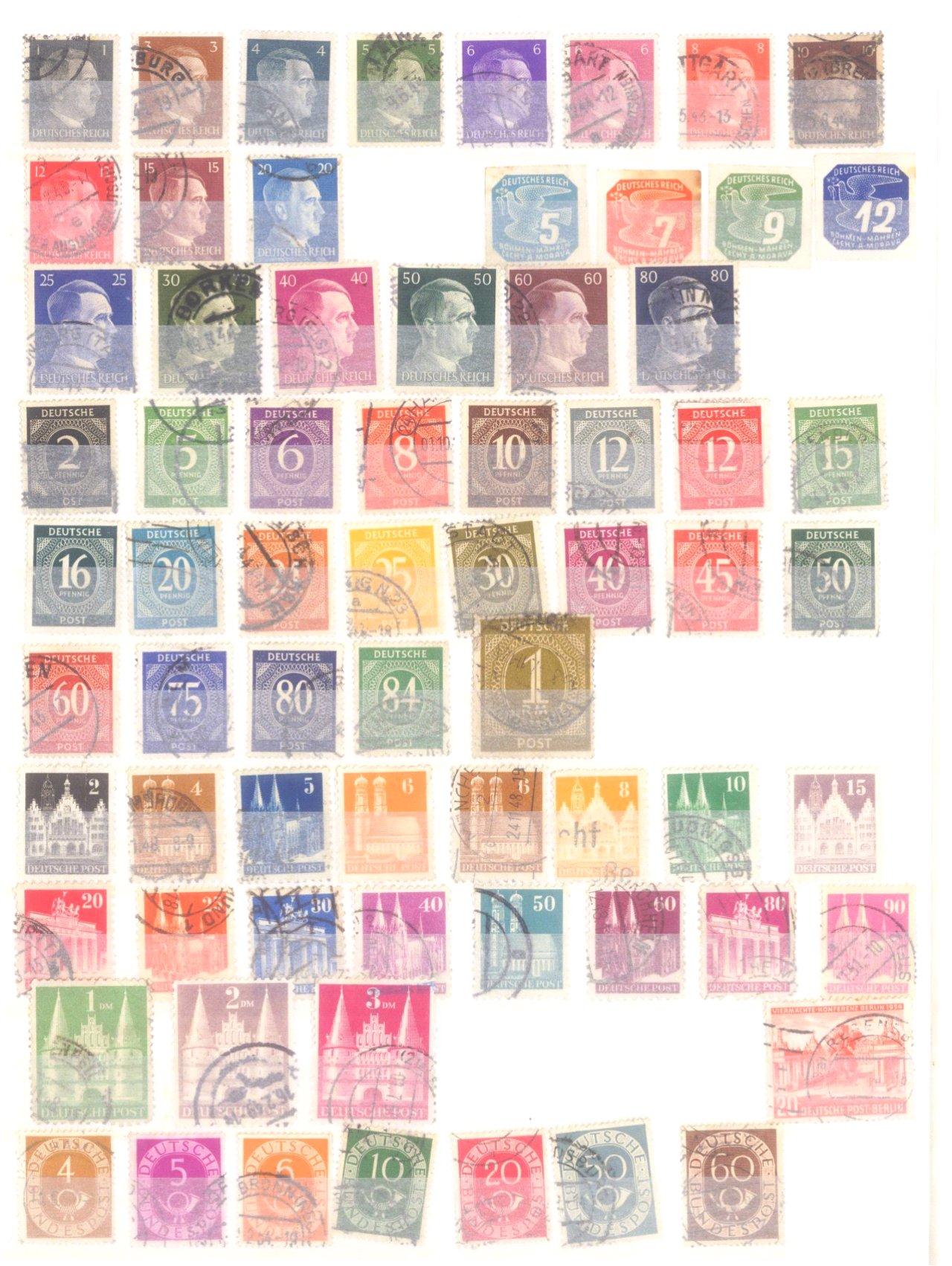 Kleine Sammlung Deutsches Reich, Bund, Alle Welt, DDR-3