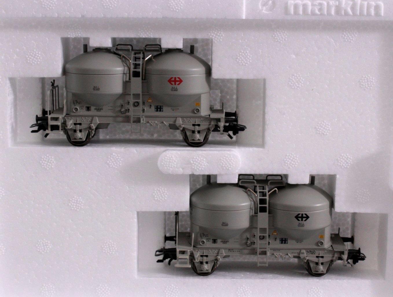 Märklin 47613 2er Set Silowagen der SBB-1