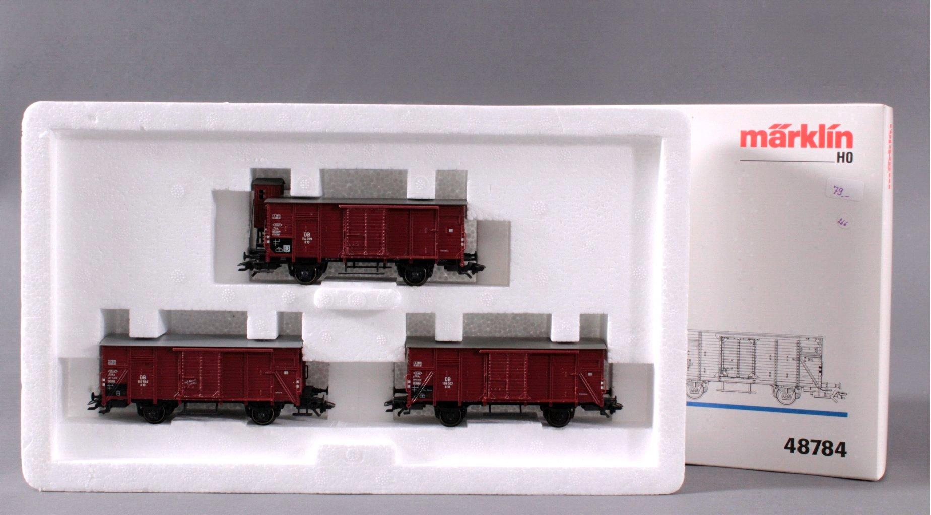 MÄRKLIN H0 48784 Gedeckte Güterwagen G10″ Set, Spur H0