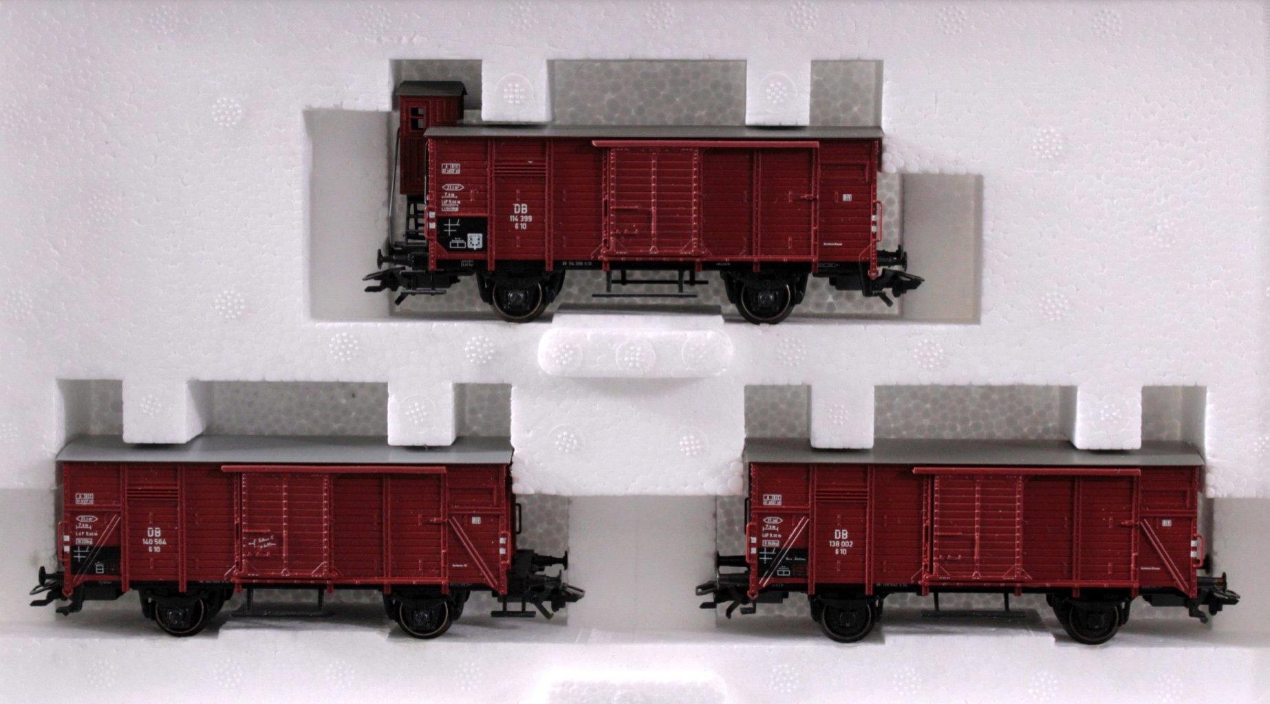 MÄRKLIN H0 48784 Gedeckte Güterwagen G10″ Set, Spur H0-1