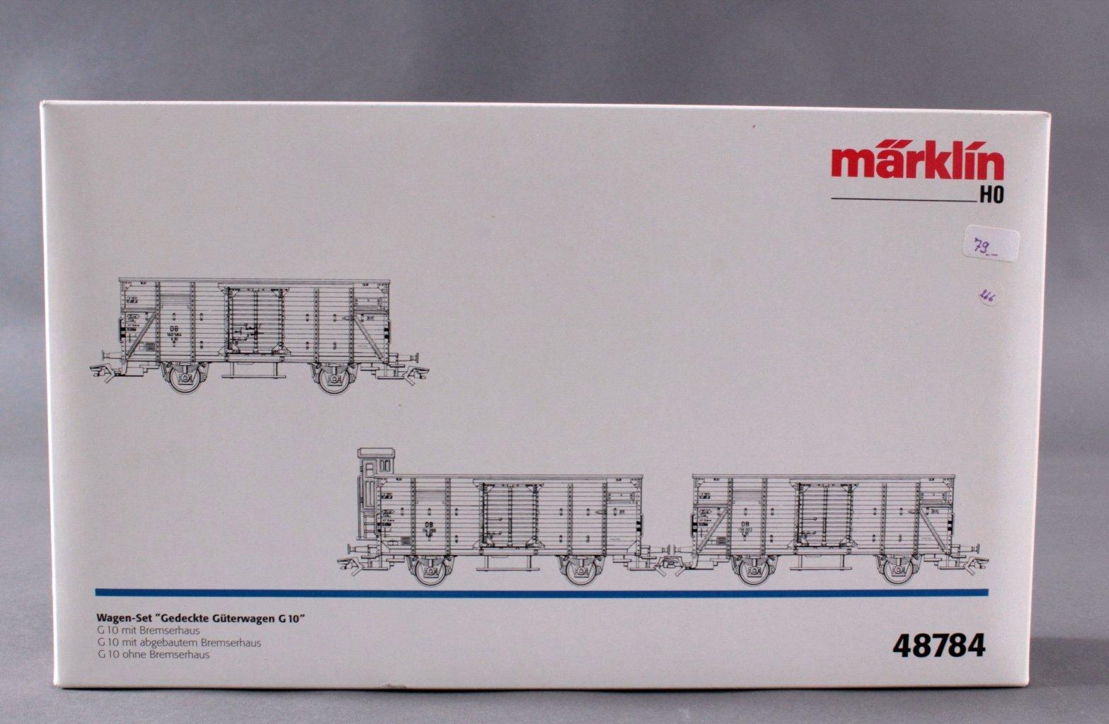 MÄRKLIN H0 48784 Gedeckte Güterwagen G10″ Set, Spur H0-2