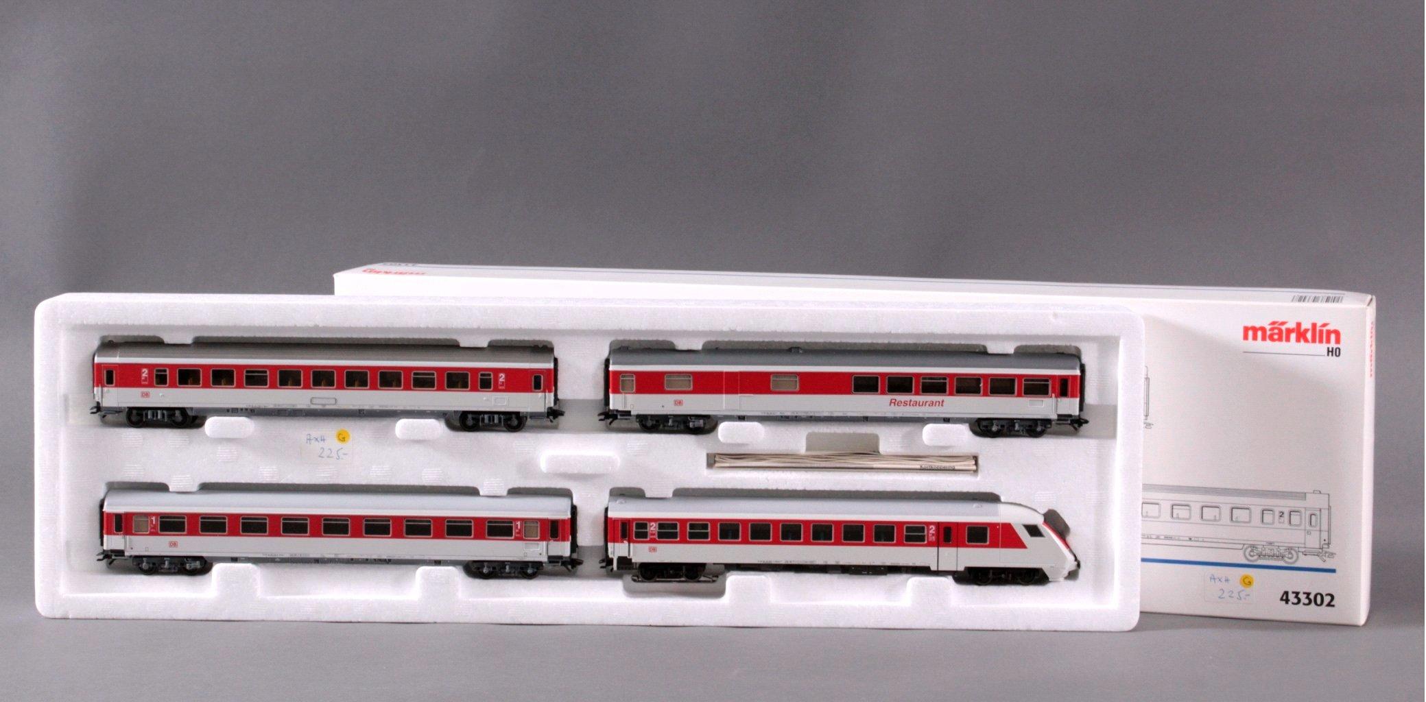 MÄRKLIN H0 43302 Wagen Set Neue Intercity Farben