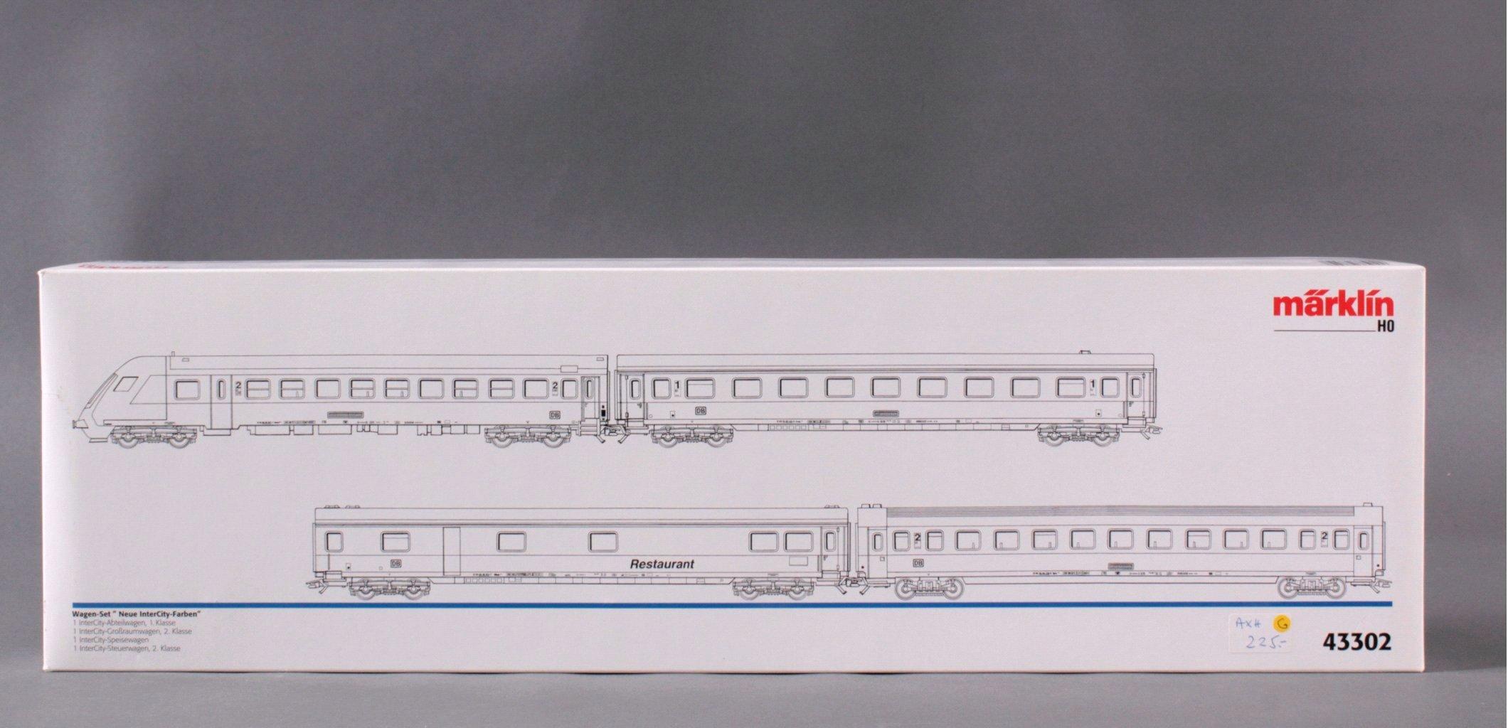 MÄRKLIN H0 43302 Wagen Set Neue Intercity Farben-2