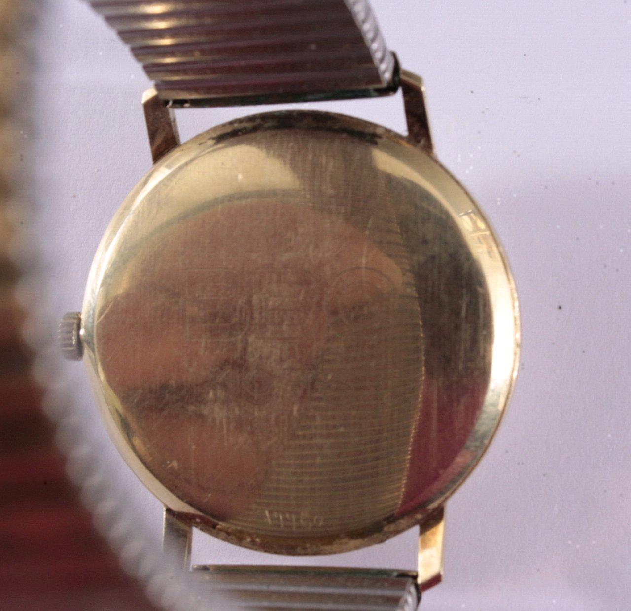 Porta Herrenarmbanduhr 14 Karat Gelbgold-2
