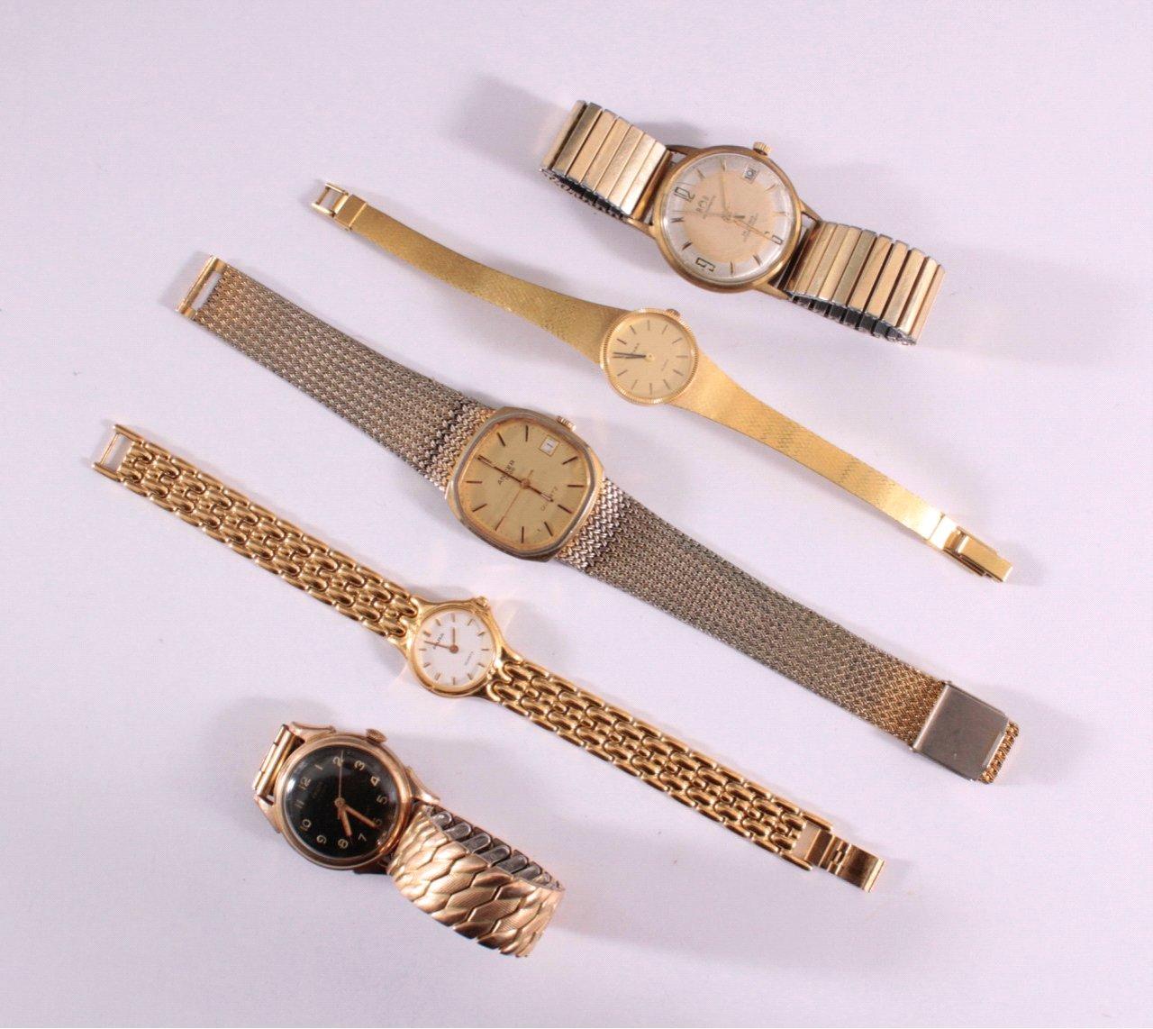 5 Armbanduhren, Herren und Damen