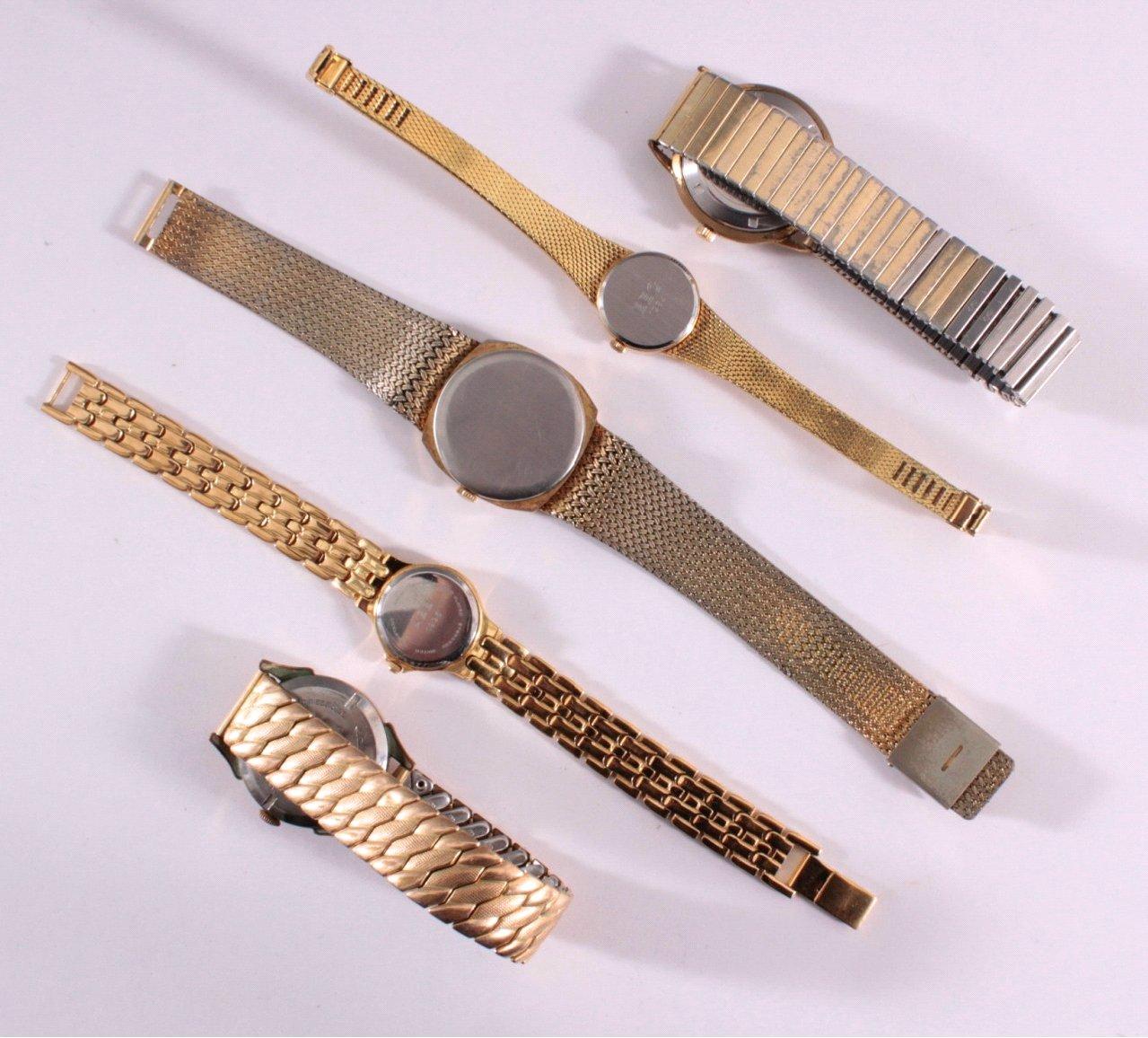 5 Armbanduhren, Herren und Damen-3