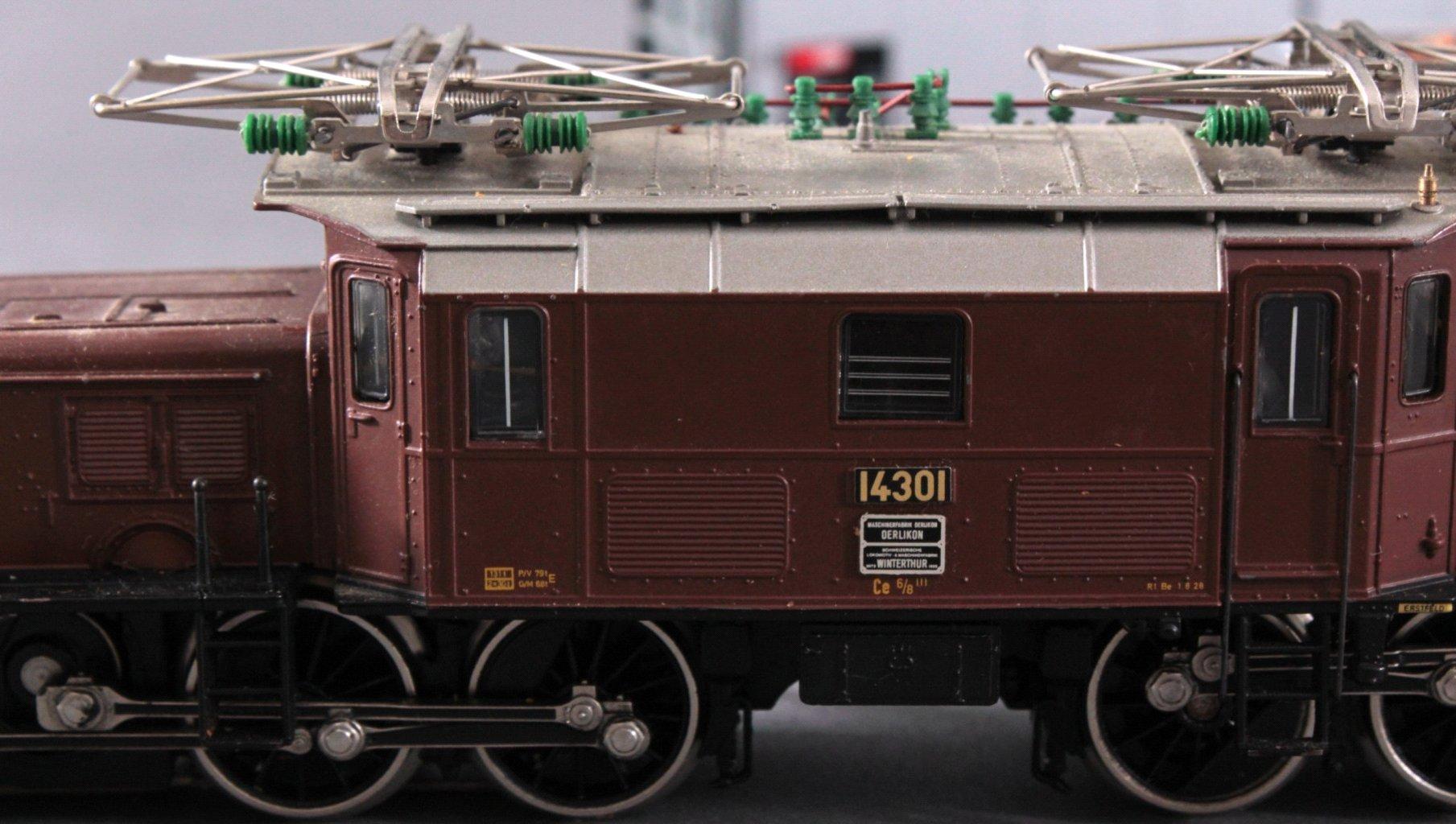Märklin H0 3652 E-Lok Krokodil BR 14301 in braun mit-2