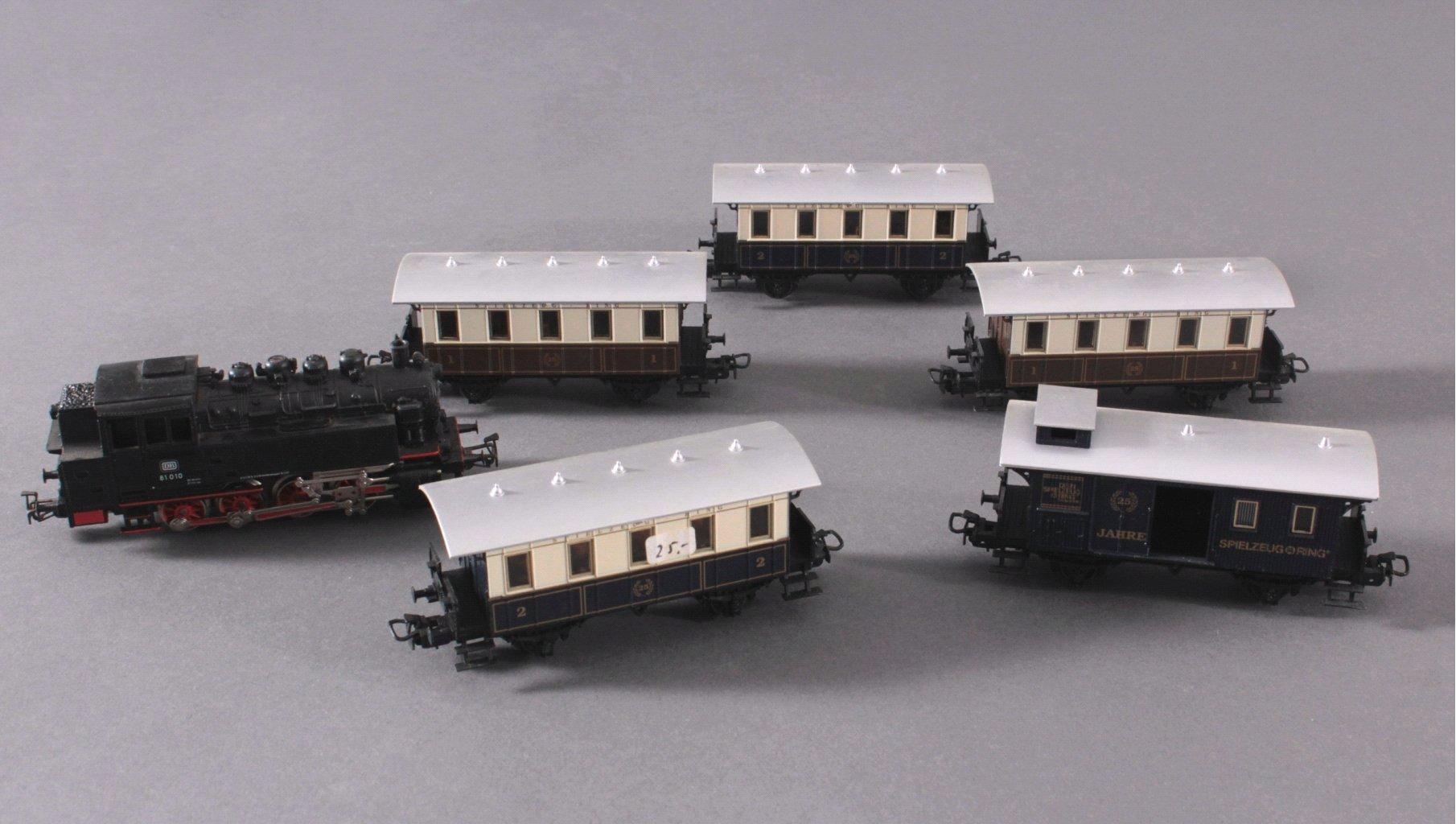 Märklin H0 3032 Dampf-Lok Baureihe 81 010 DB in schwarz mit
