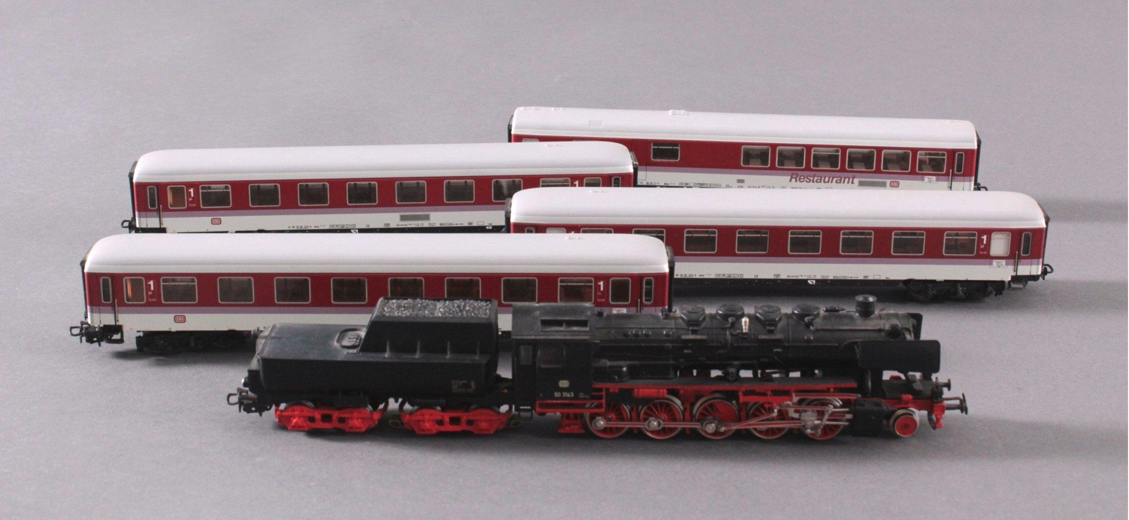 Märklin H0 3315 Dampf-Lok Baureihe 50 3143 DB in schwarz mit